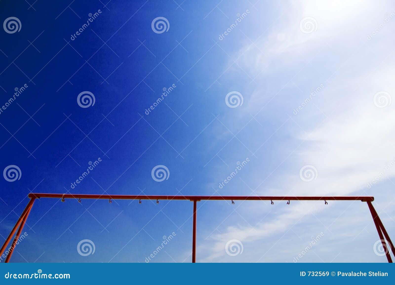 Vue à l arrière-plan de ciel bleu