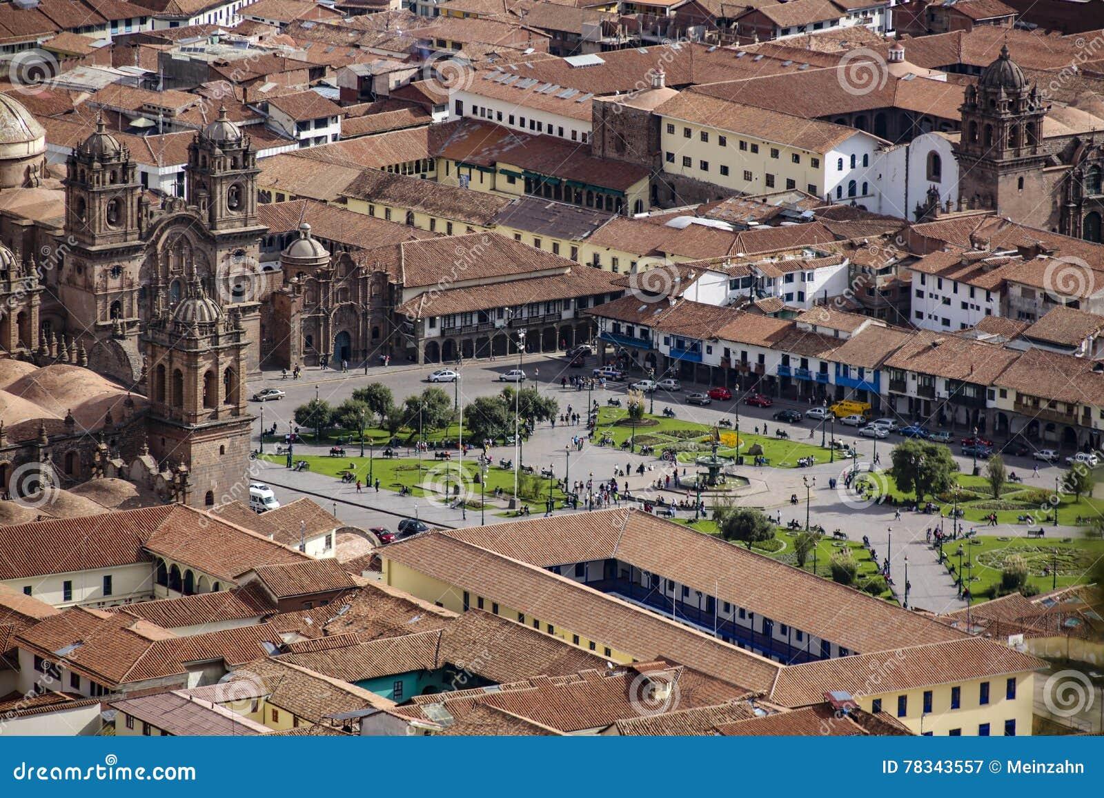 Vue à la cathédrale de Cuzco