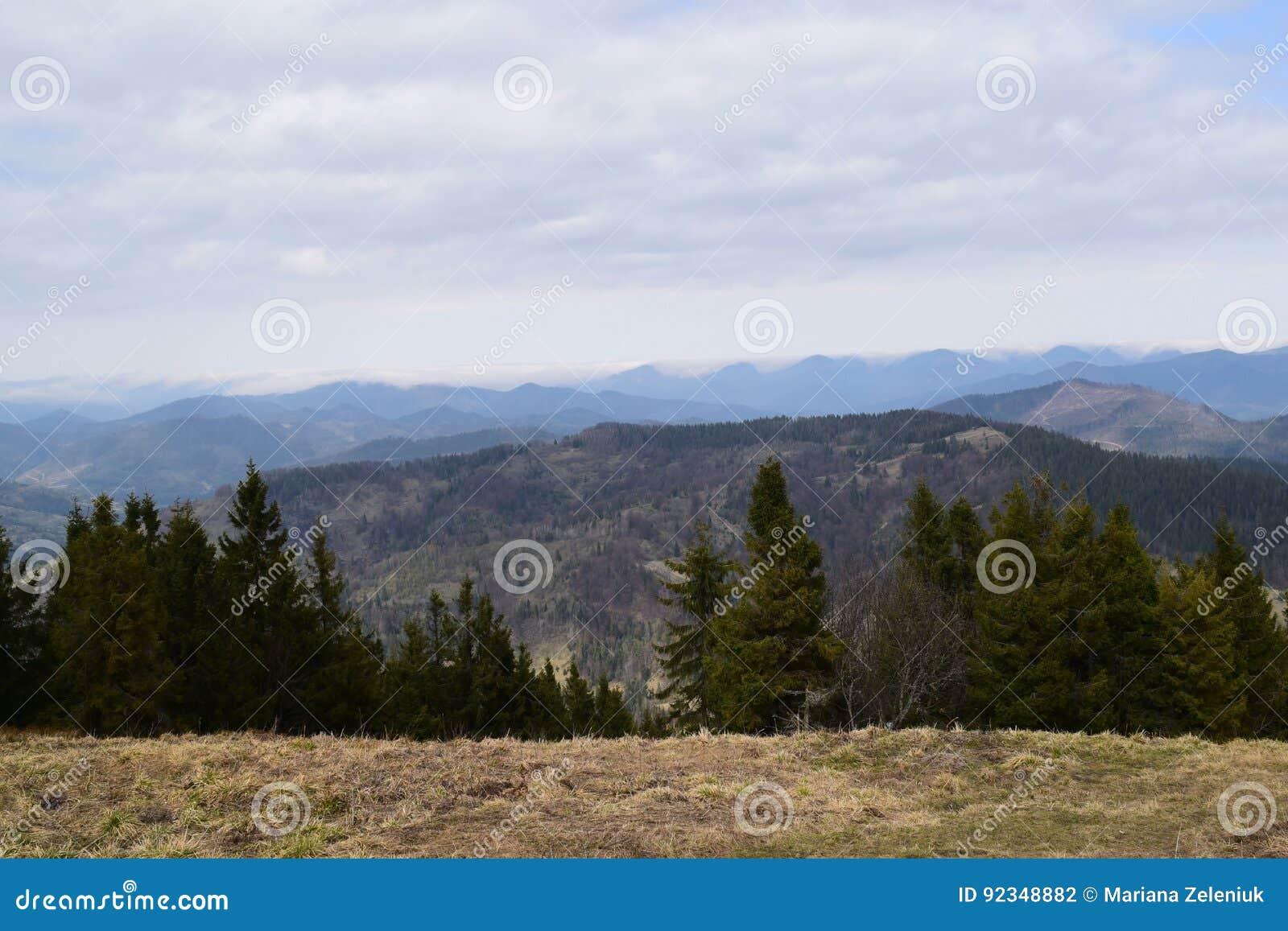 Vue à partir du dessus de la montagne