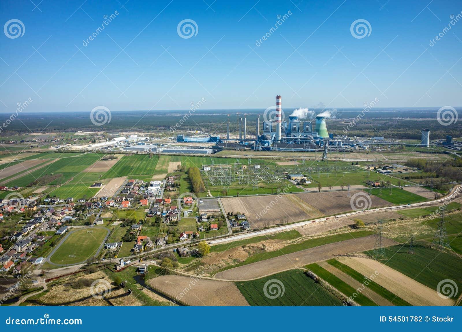 Vue aérienne d Opole