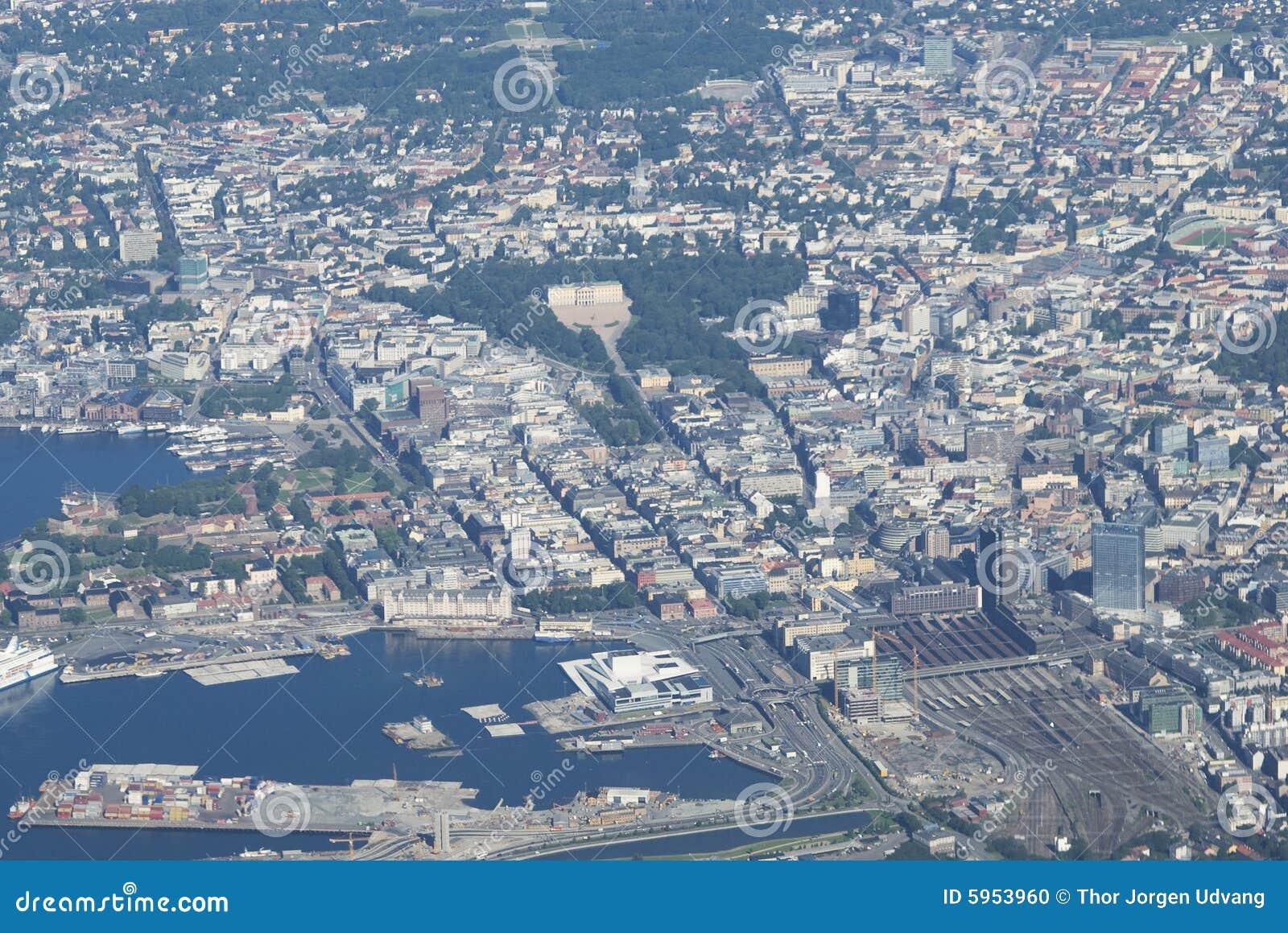 Vue aérienne d Oslo, Norvège