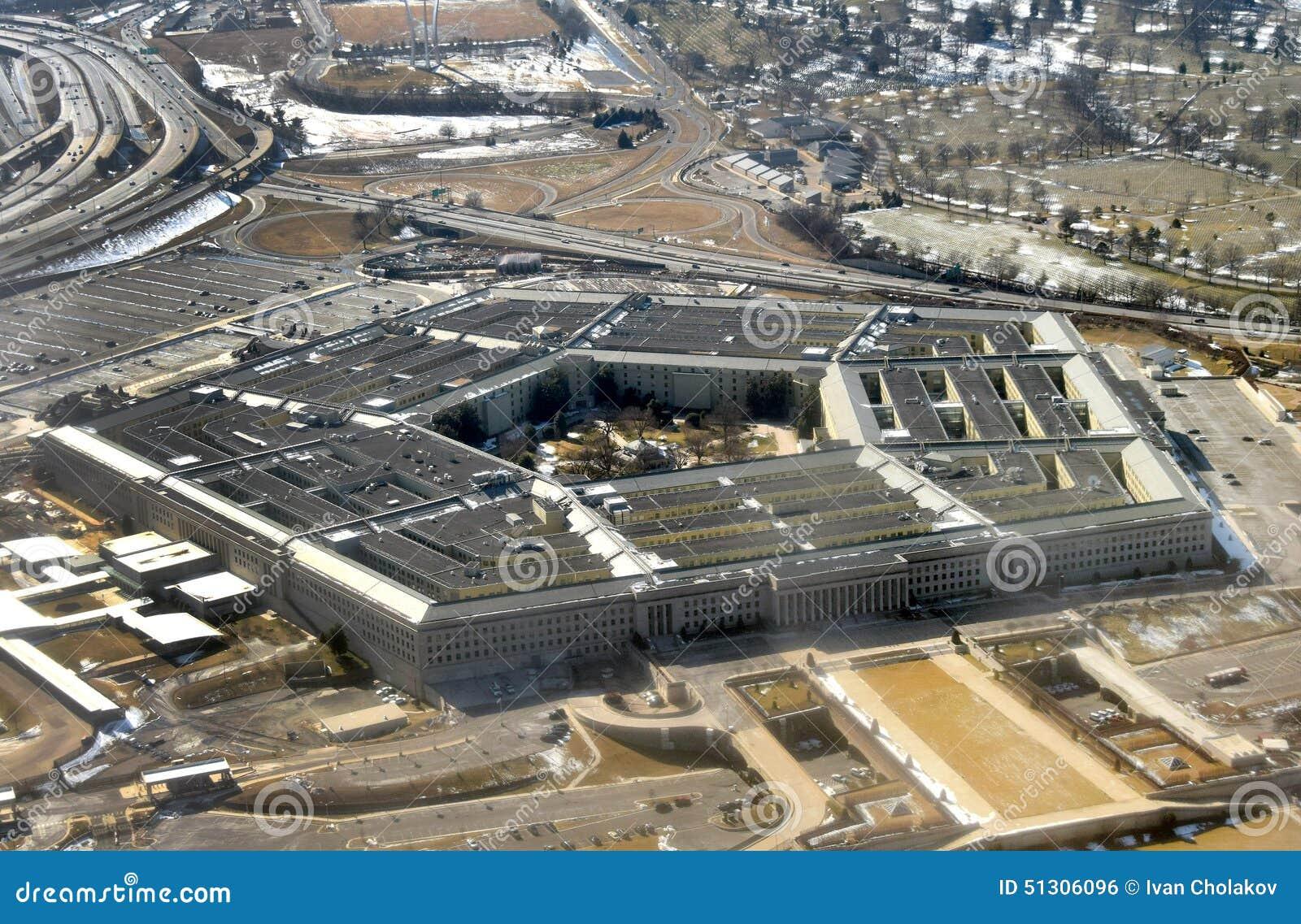 Vue aérienne d USA le Pentagone