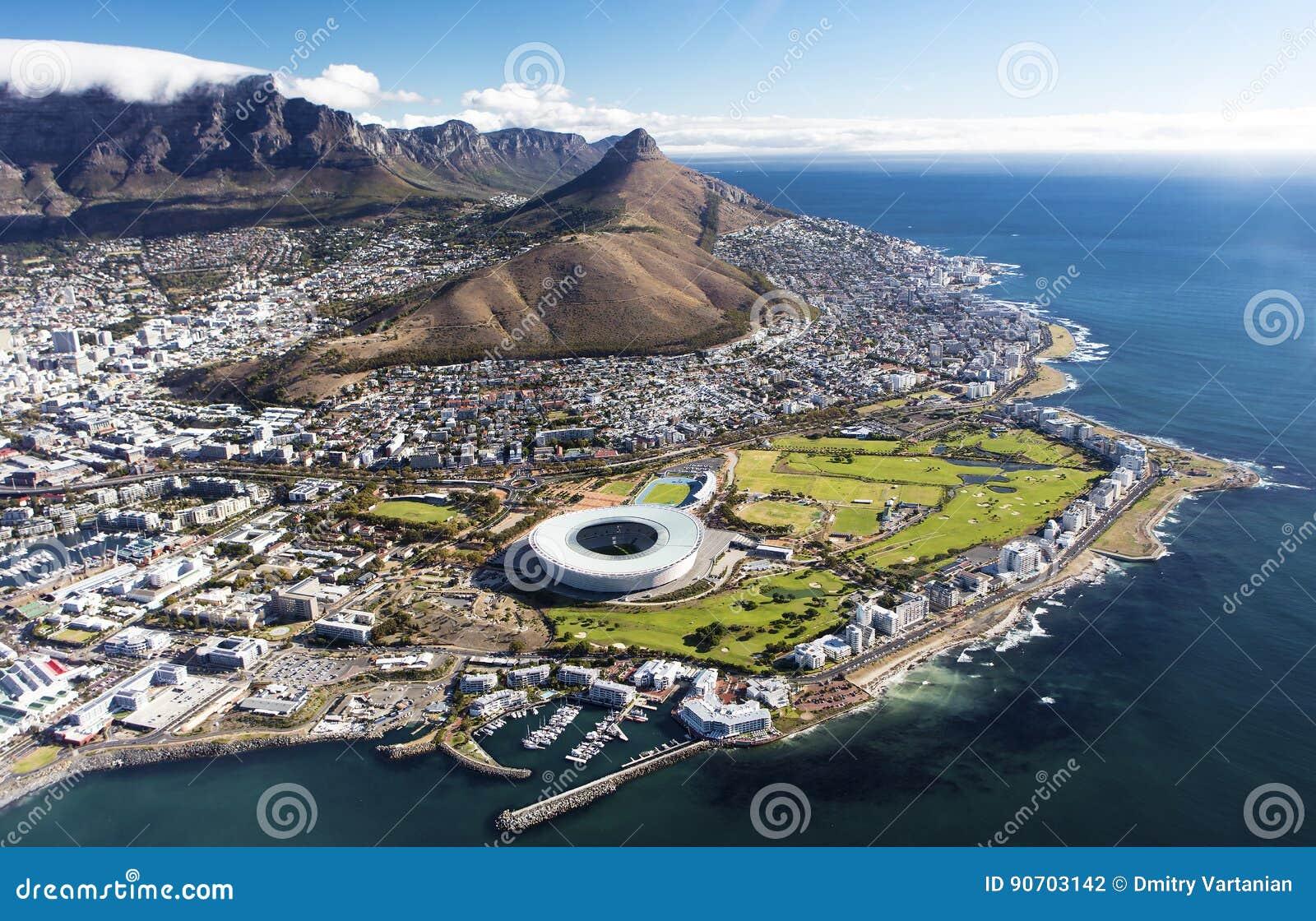 Vue aérienne de Capetown