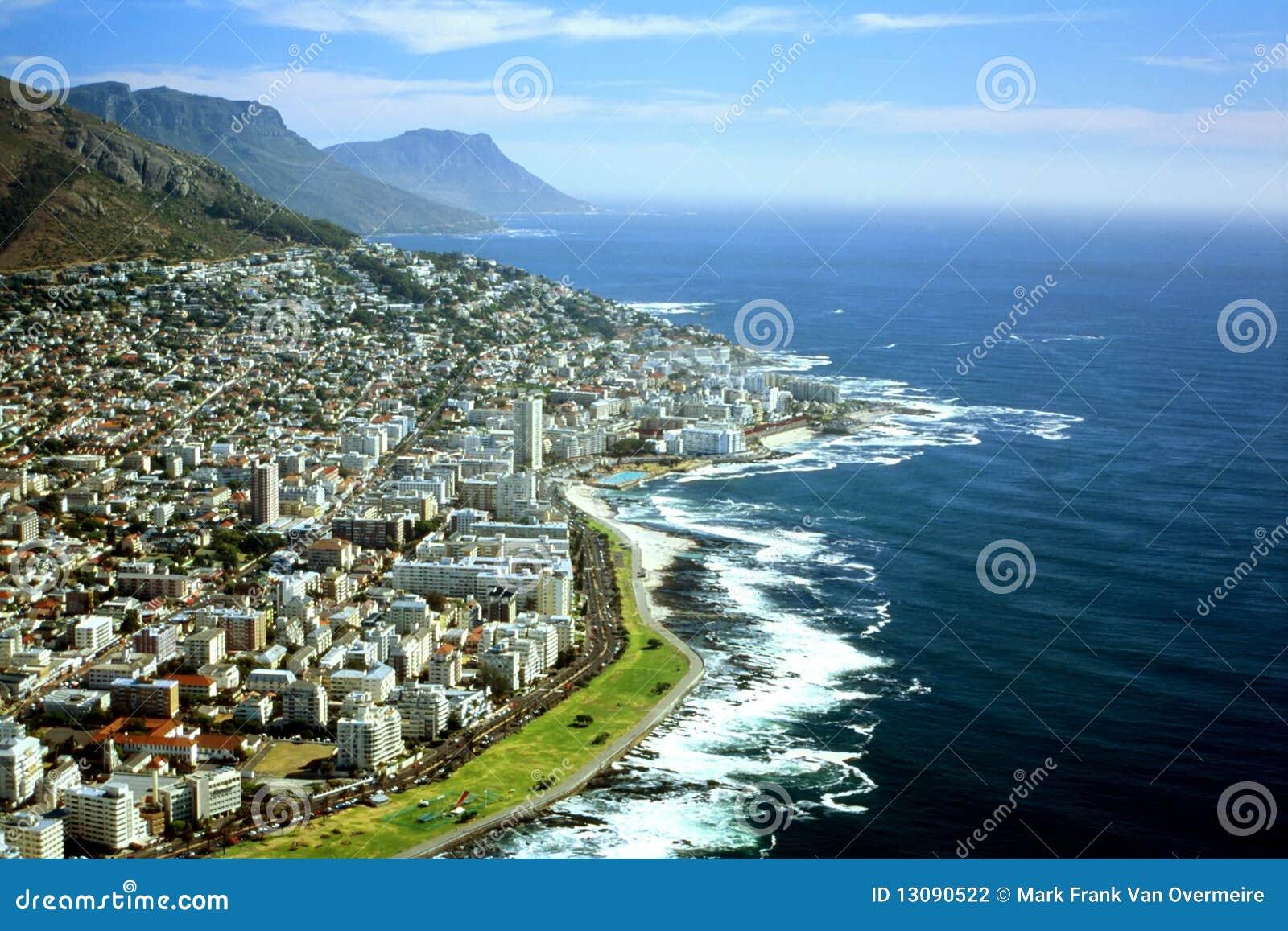 Vue aérienne de Capetown, Afrique du Sud