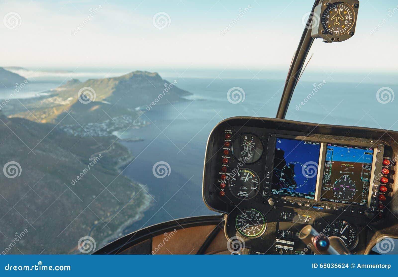 Vue aérienne de Capetown d un habitacle d hélicoptère
