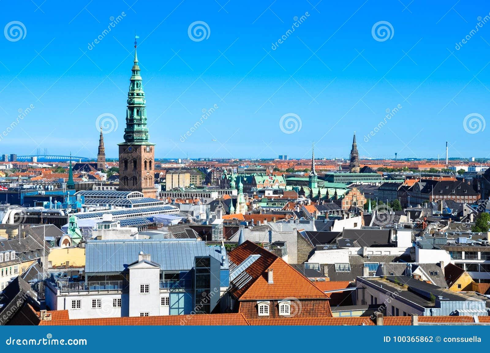 Vue aérienne de Copenhague, Danemark