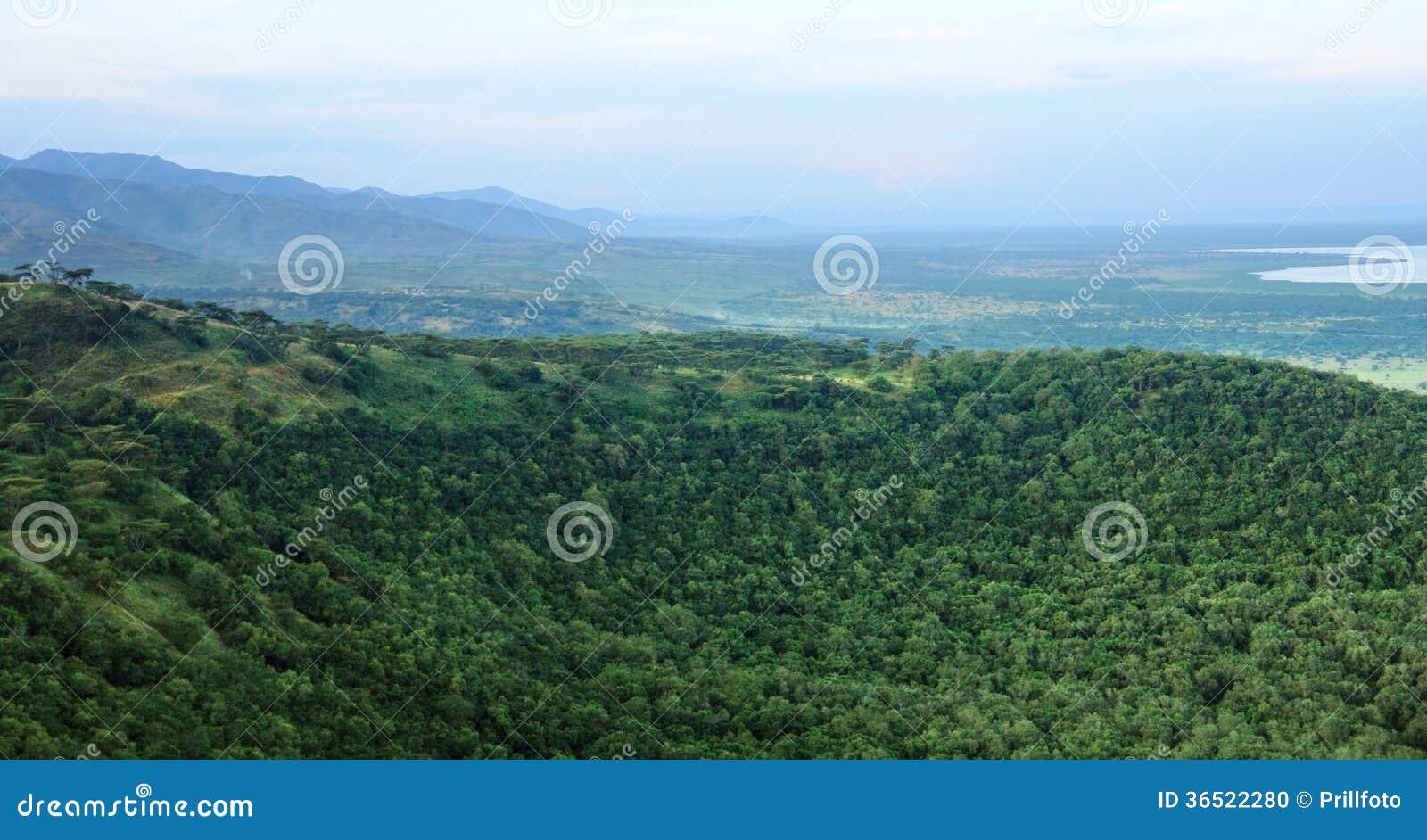 Vue aérienne de gorge de Chambura