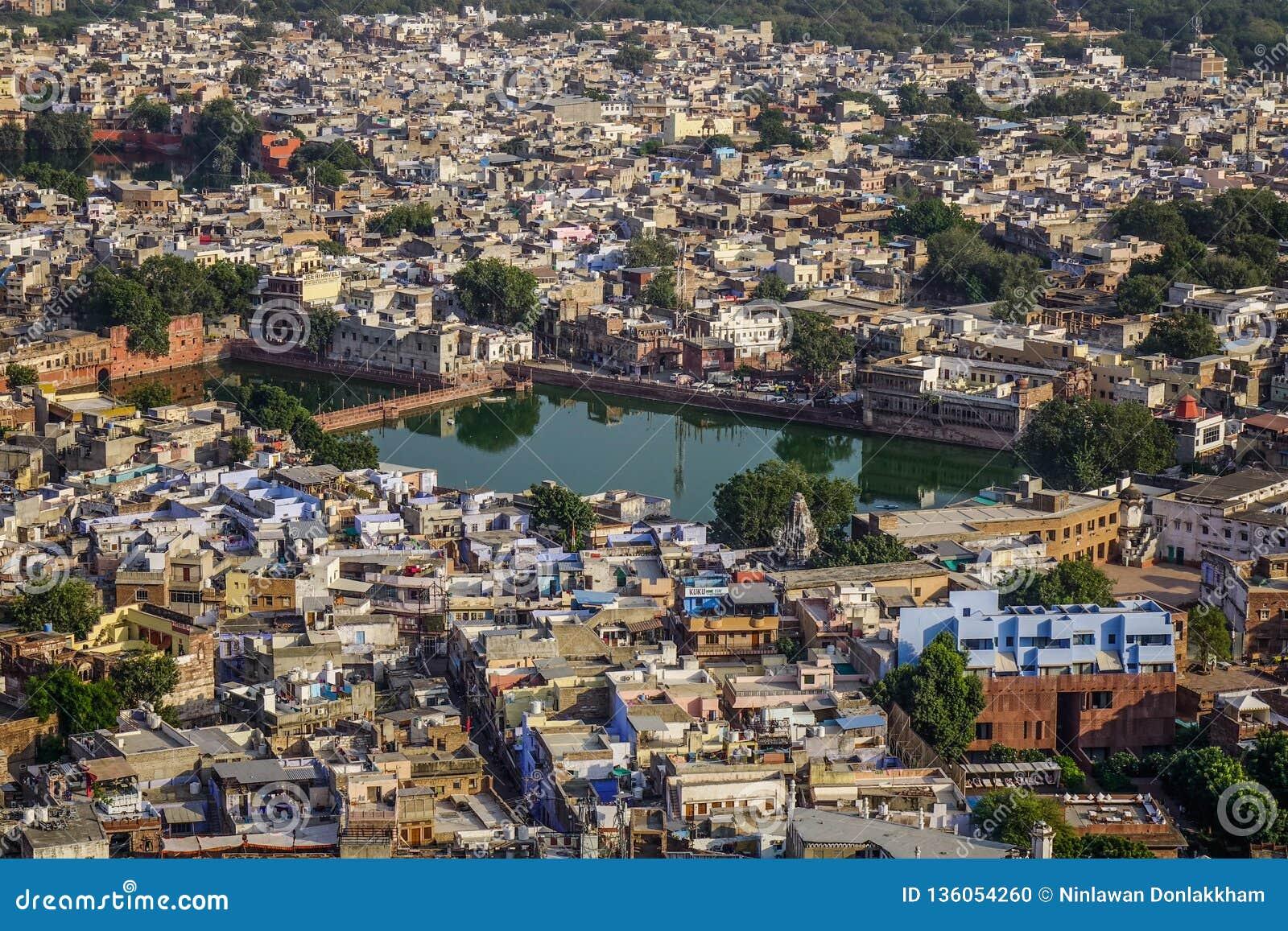 Vue aérienne de Jodhpur, Inde