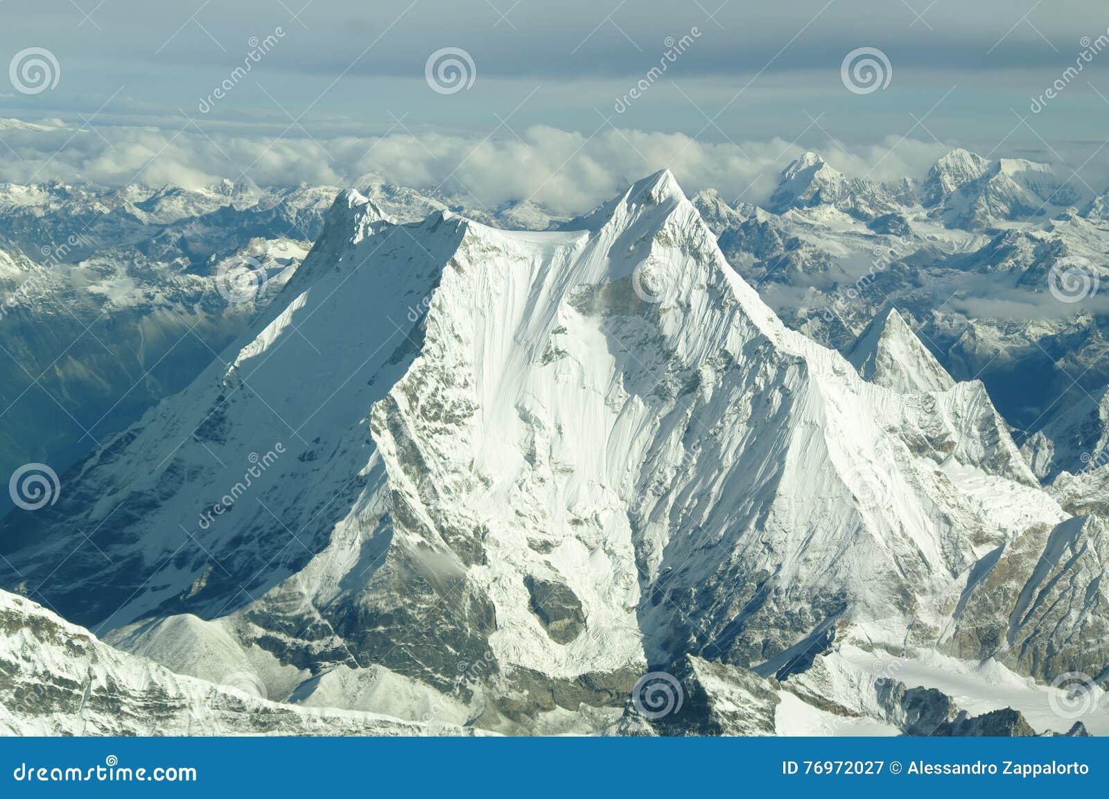 Vue aérienne de l Himalaya