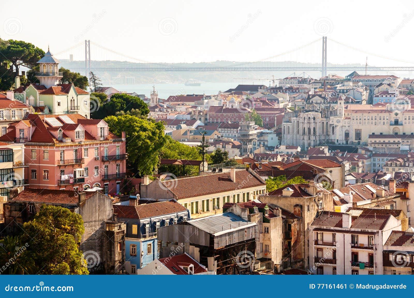 Vue aérienne de Lisbonne, Portugal