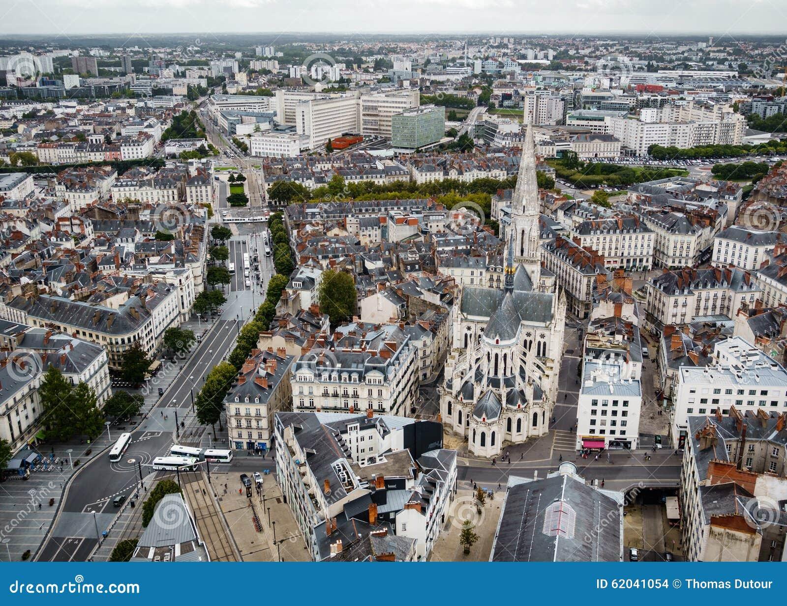 Vue A Ef Bf Bdrienne Centre Ville Nantes