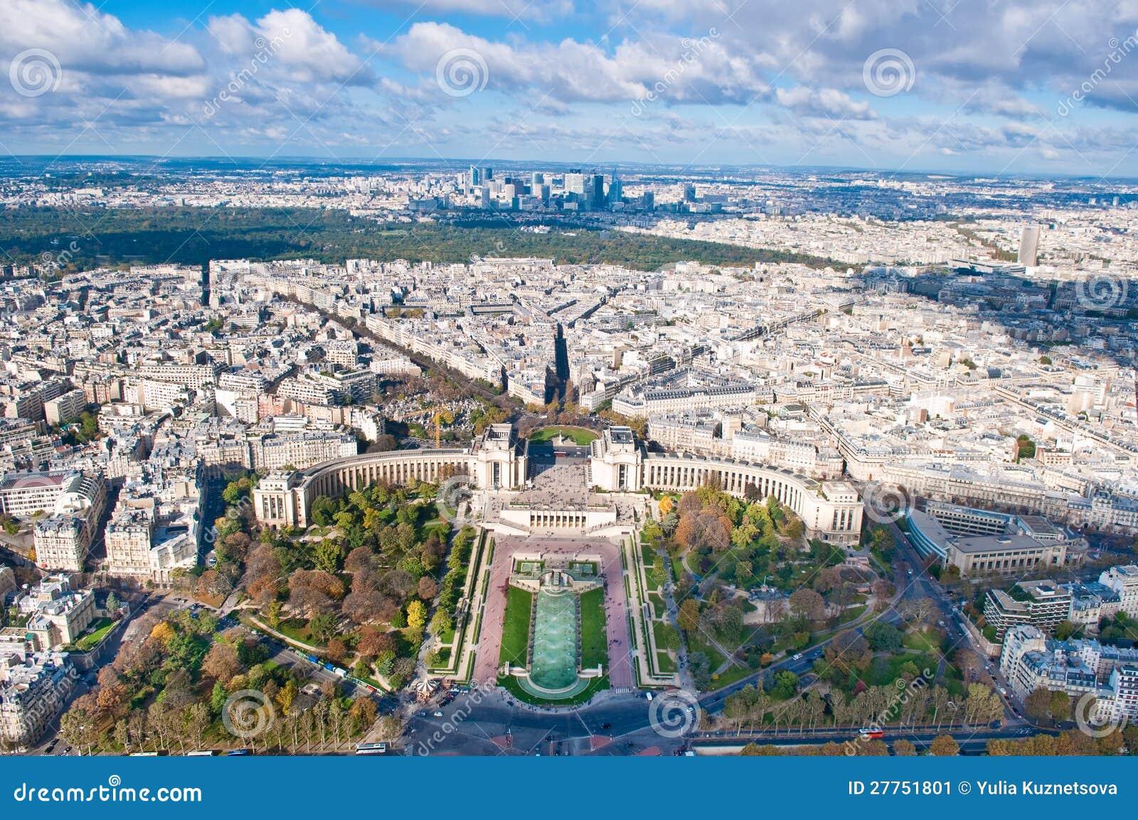 Vue aérienne de Paris, France