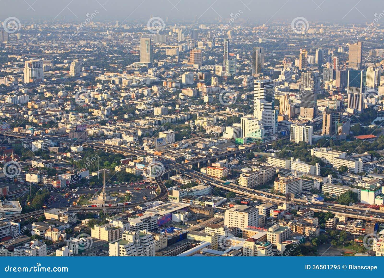 Vue aérienne de paysage urbain de Victory Monument