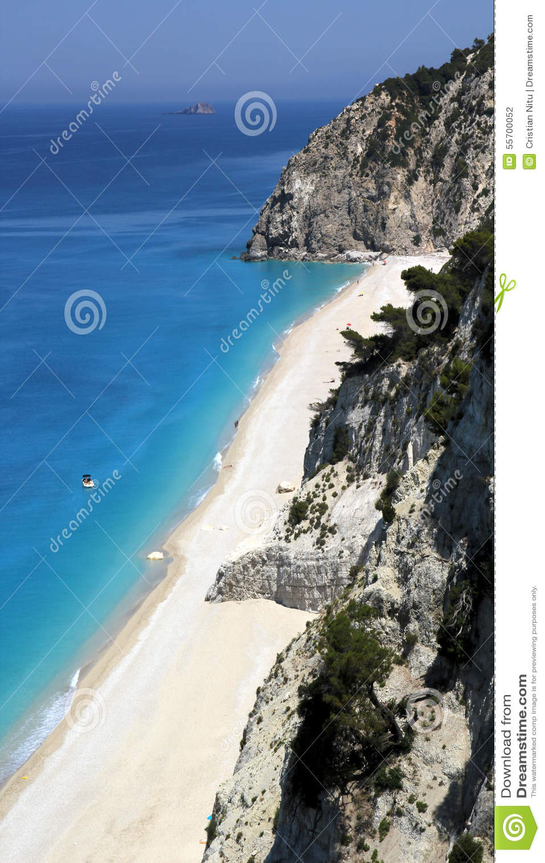 Vue aérienne de plage d Egremni, île de Leucade