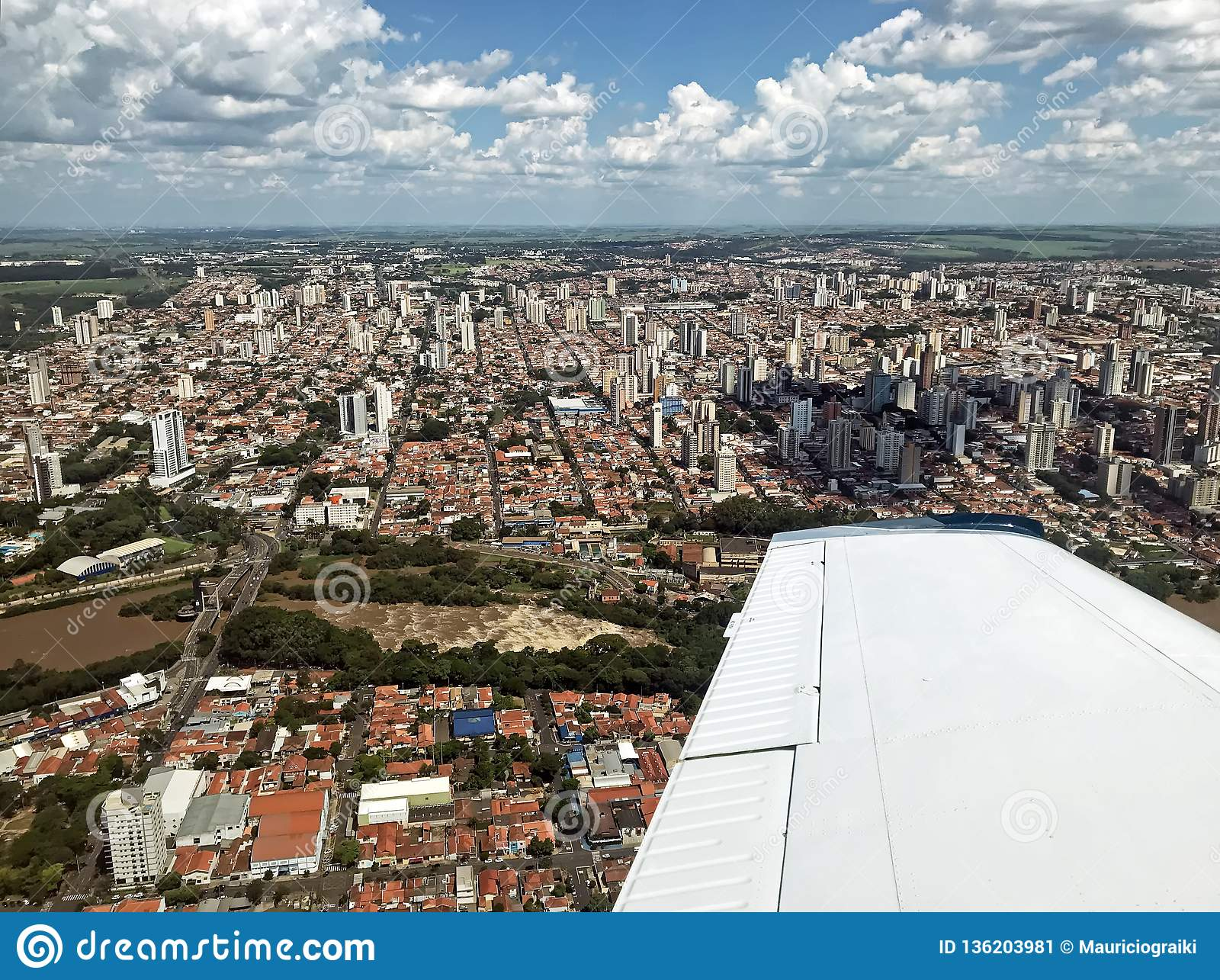 Vue aérienne de PS Brésil de Piracicaba