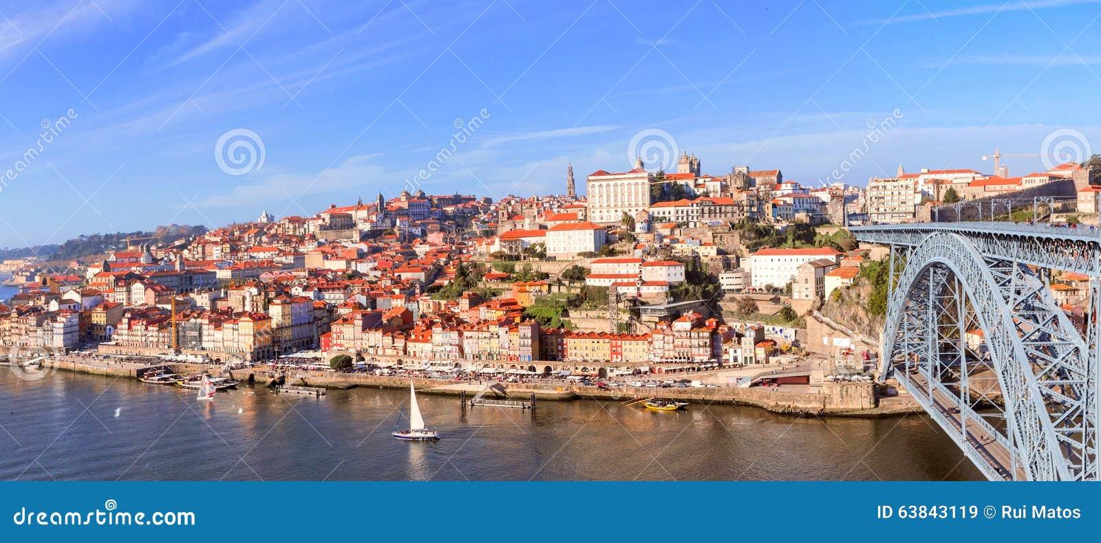 Vue aérienne de Ribeira, Porto, Portugal