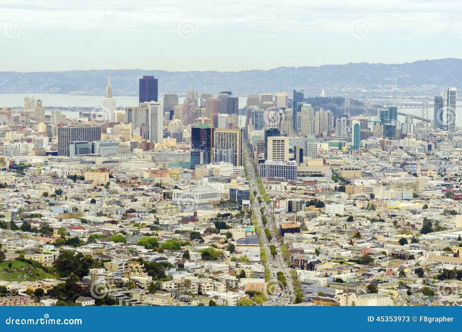 Vue aérienne de San Francisco du centre