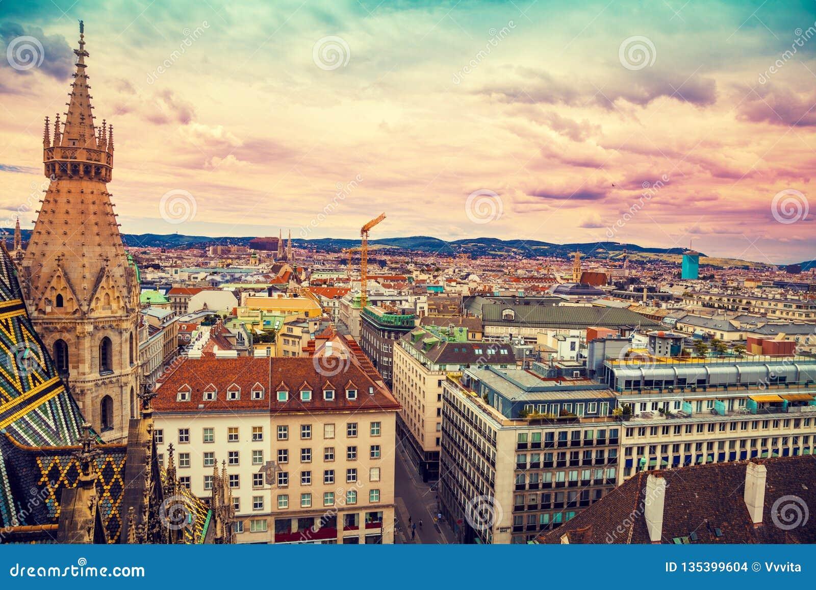 Vue aérienne de Vienne, Autriche