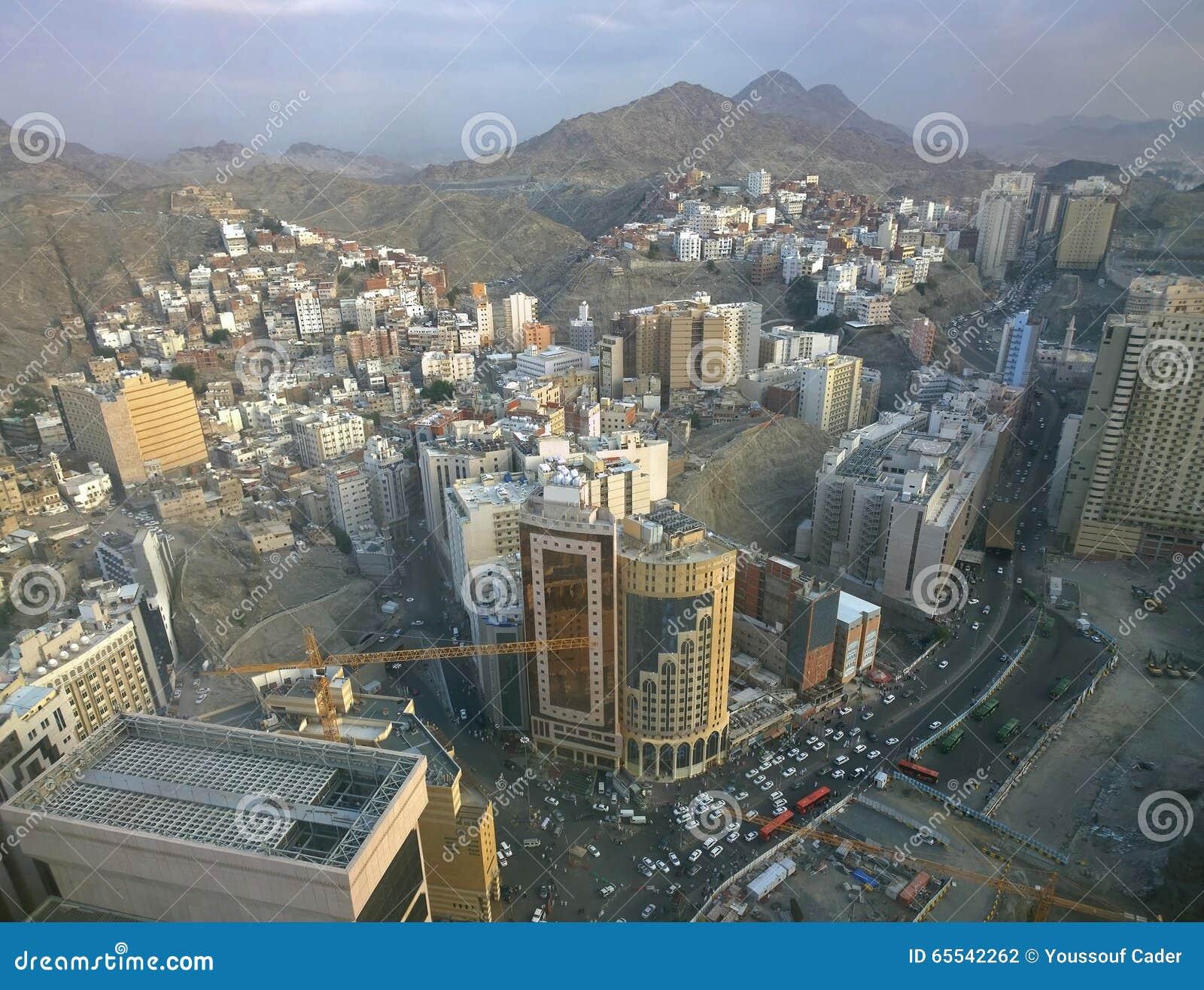 Vue aérienne de vieux Mecca Saudi Arabia