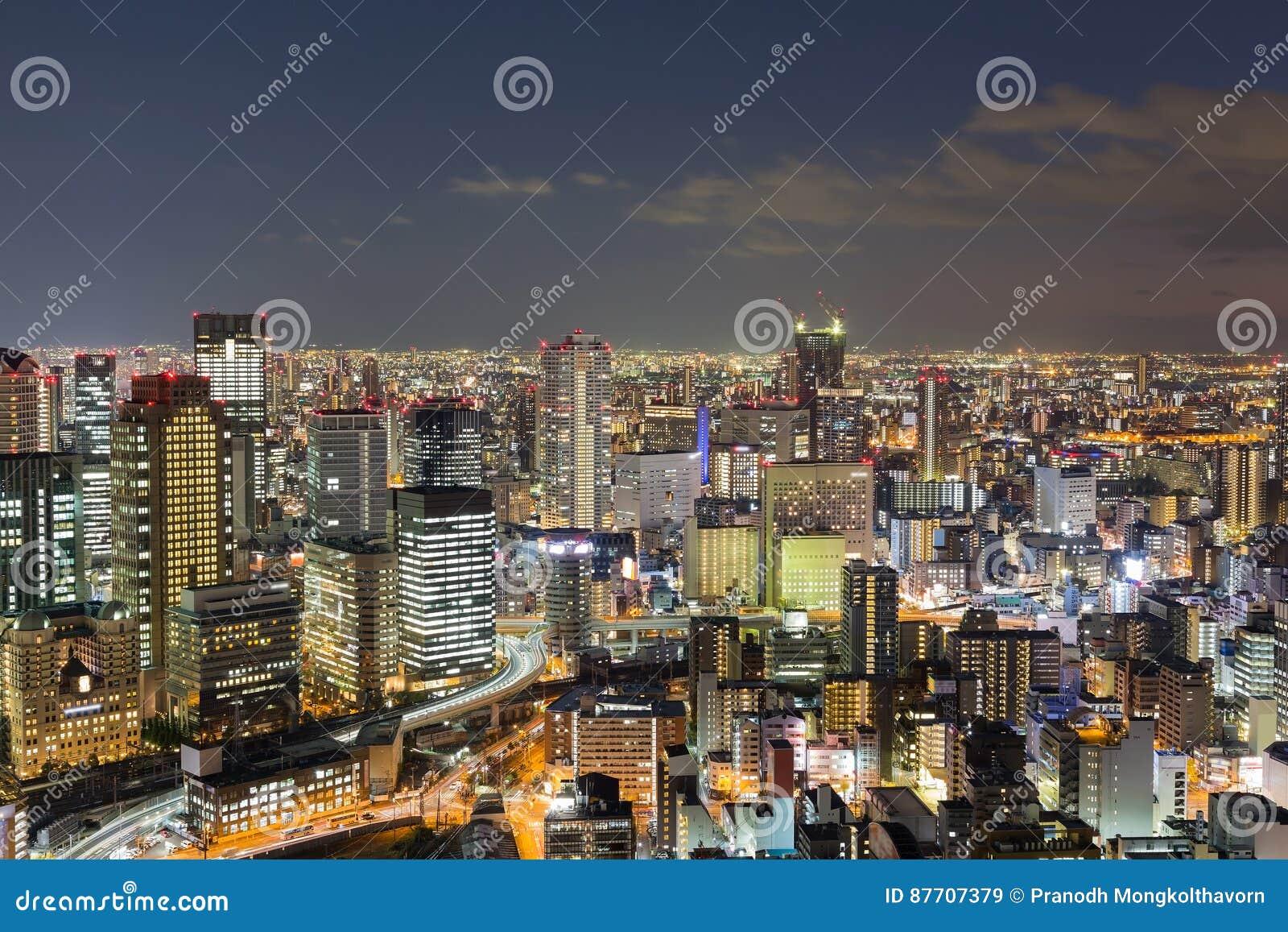 Vue aérienne du centre d affaires centrales de ville d Osaka