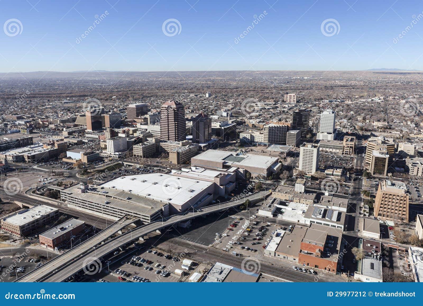 Antenne d Albuquerque Nouveau Mexique au centre ville