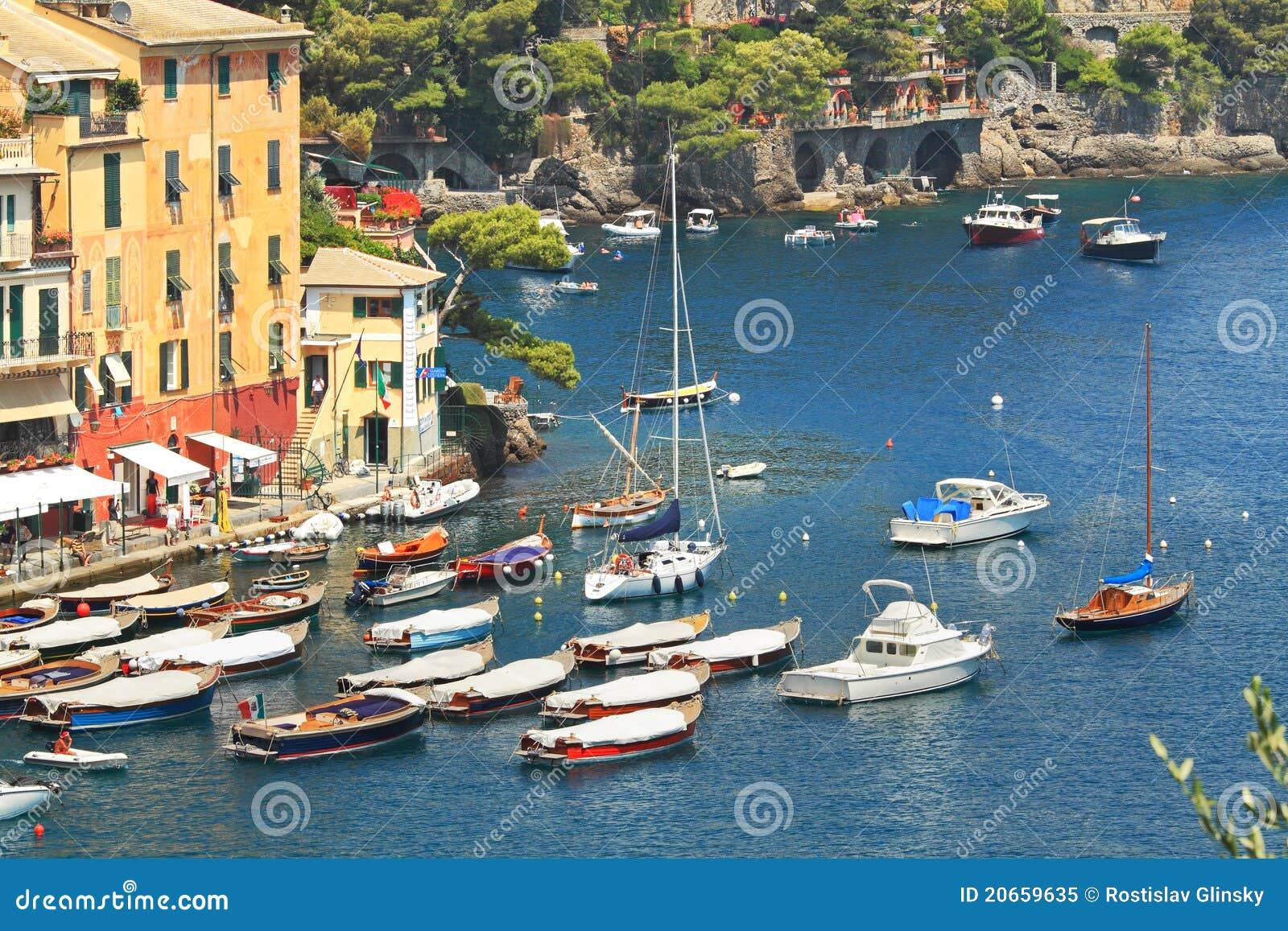 Vue aérienne sur le compartiment de Portofino.