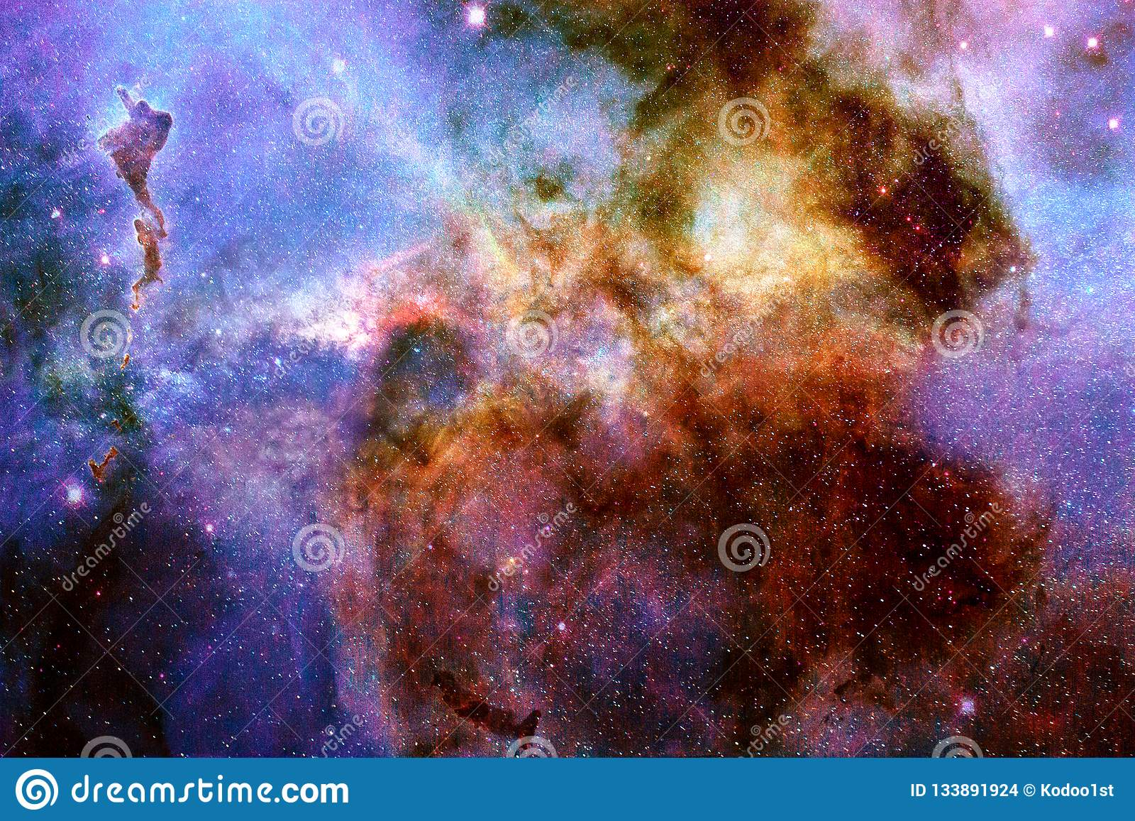 Vue abstraite d une galaxie avec l illustration de nébuleuse
