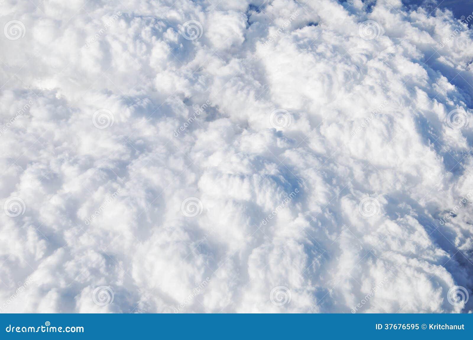 Vue Aérienne De Texture De Nuage Photo libre de droits - Image: 37676595