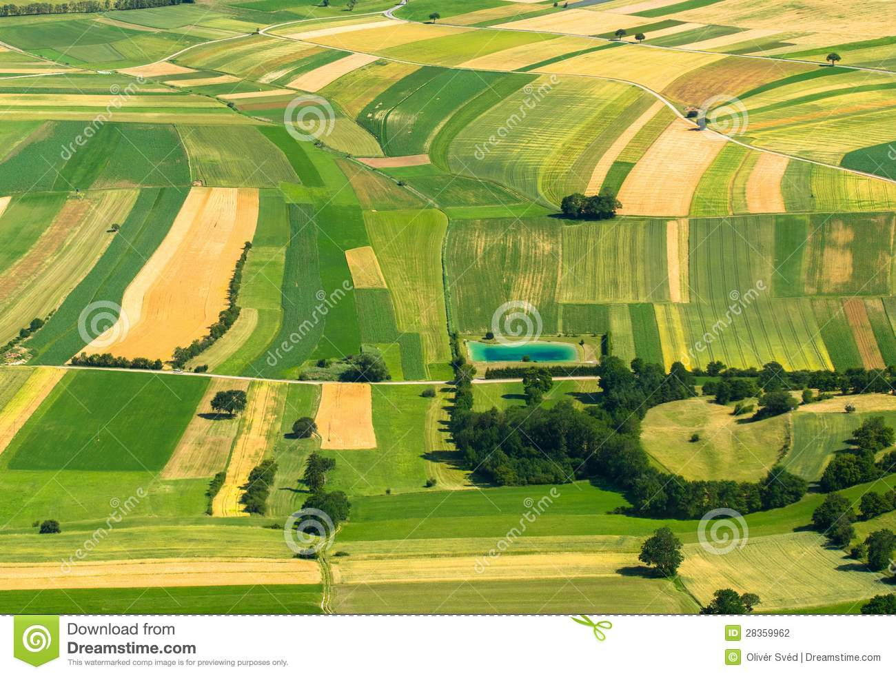 Vue a rienne de zone agricole photographie stock image for Zone agricole
