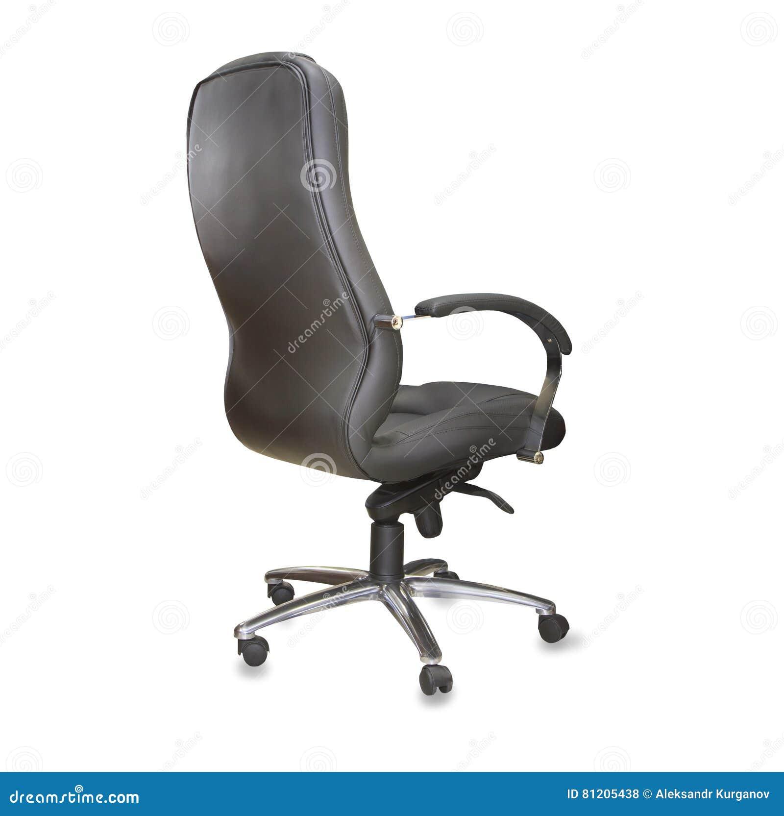 De Cuir Arrière Bureau Stock Vue Moderne Chaise Noir Photo MUqSzVp