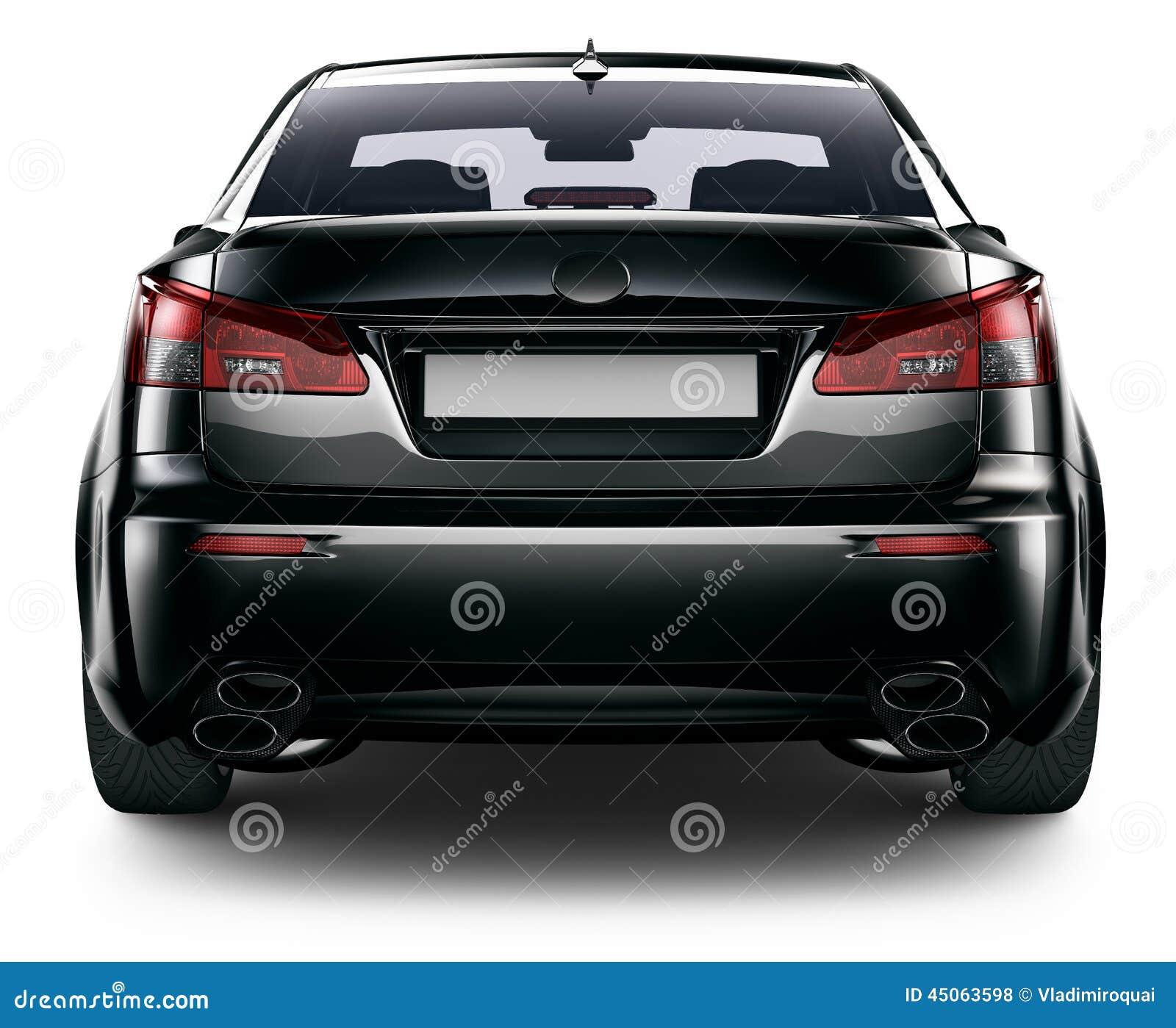 vue arri re de voiture noire de berline illustration stock image 45063598. Black Bedroom Furniture Sets. Home Design Ideas