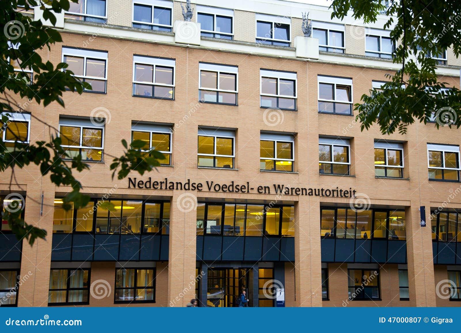 Vue au bureau néerlandais de l autorité néerlandaise de nourriture
