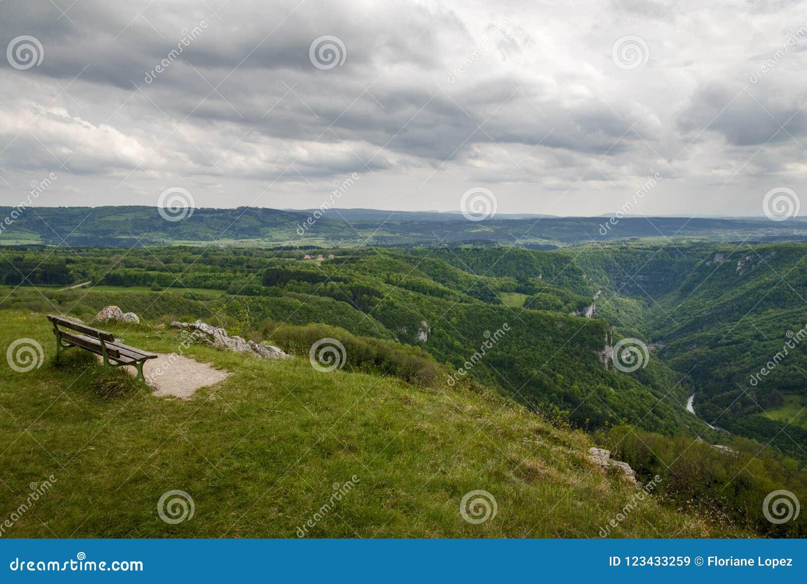 Vue au-dessus de la vallée de loue