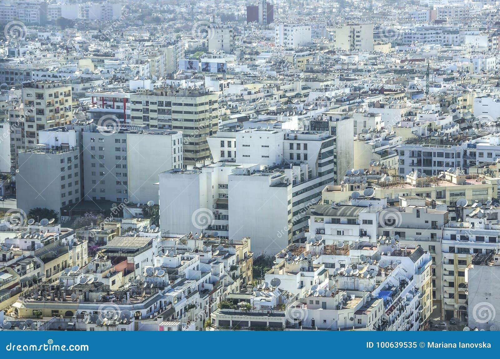 Vue au dessus de la ville de casablanca maroc image stock - Marocco casablanca ...