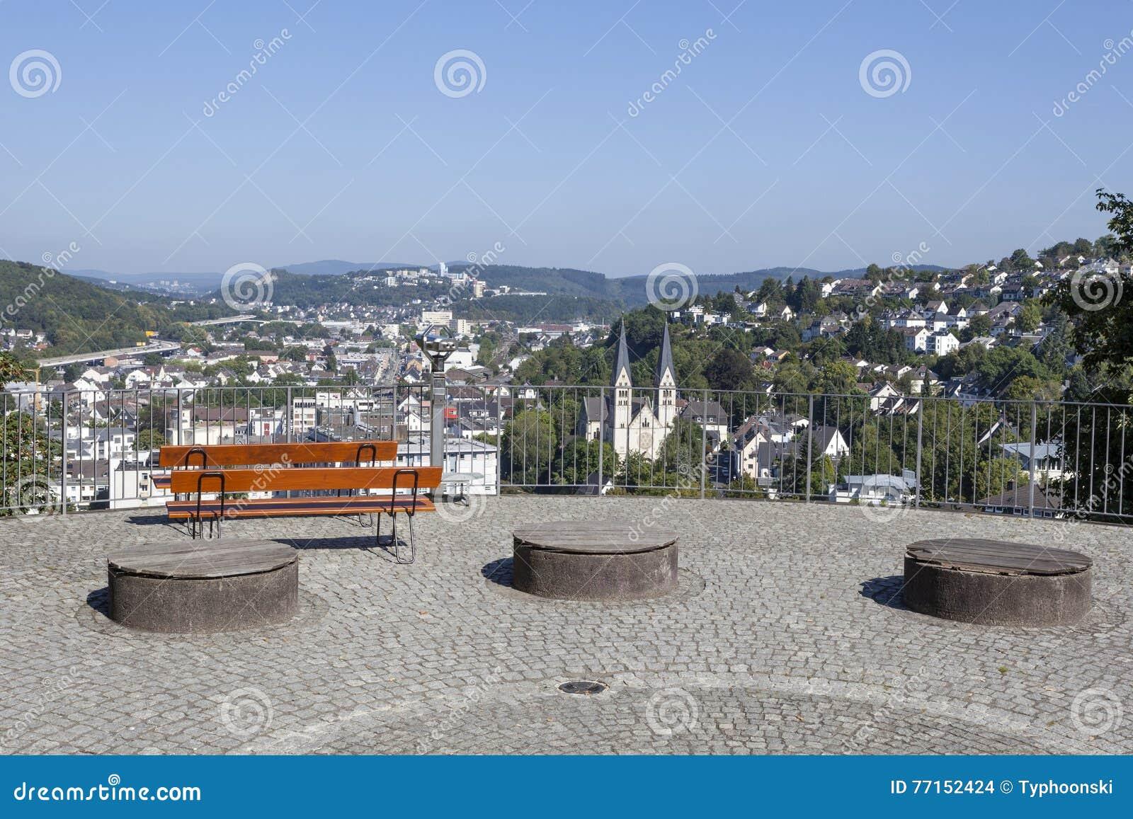 Vue au-dessus de la ville de Siegen