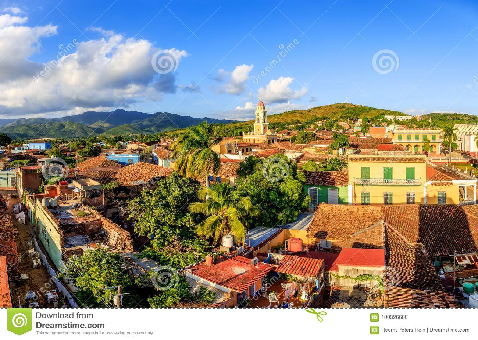 Vue au-dessus du Trinidad, Cuba