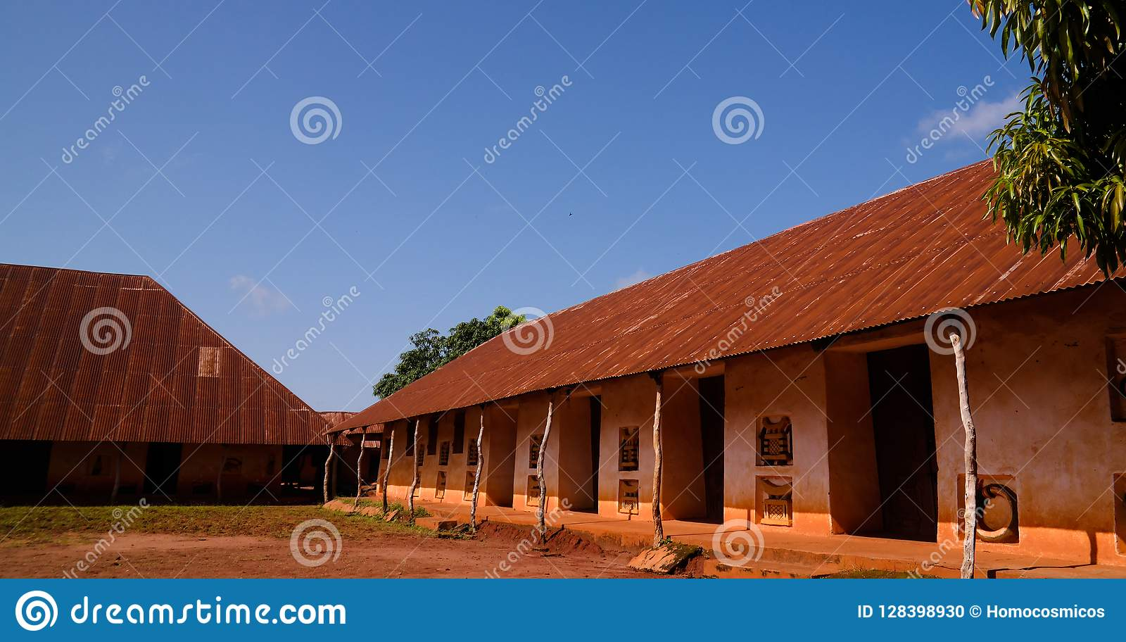 Vue aux palais royaux d Abomey, Bénin