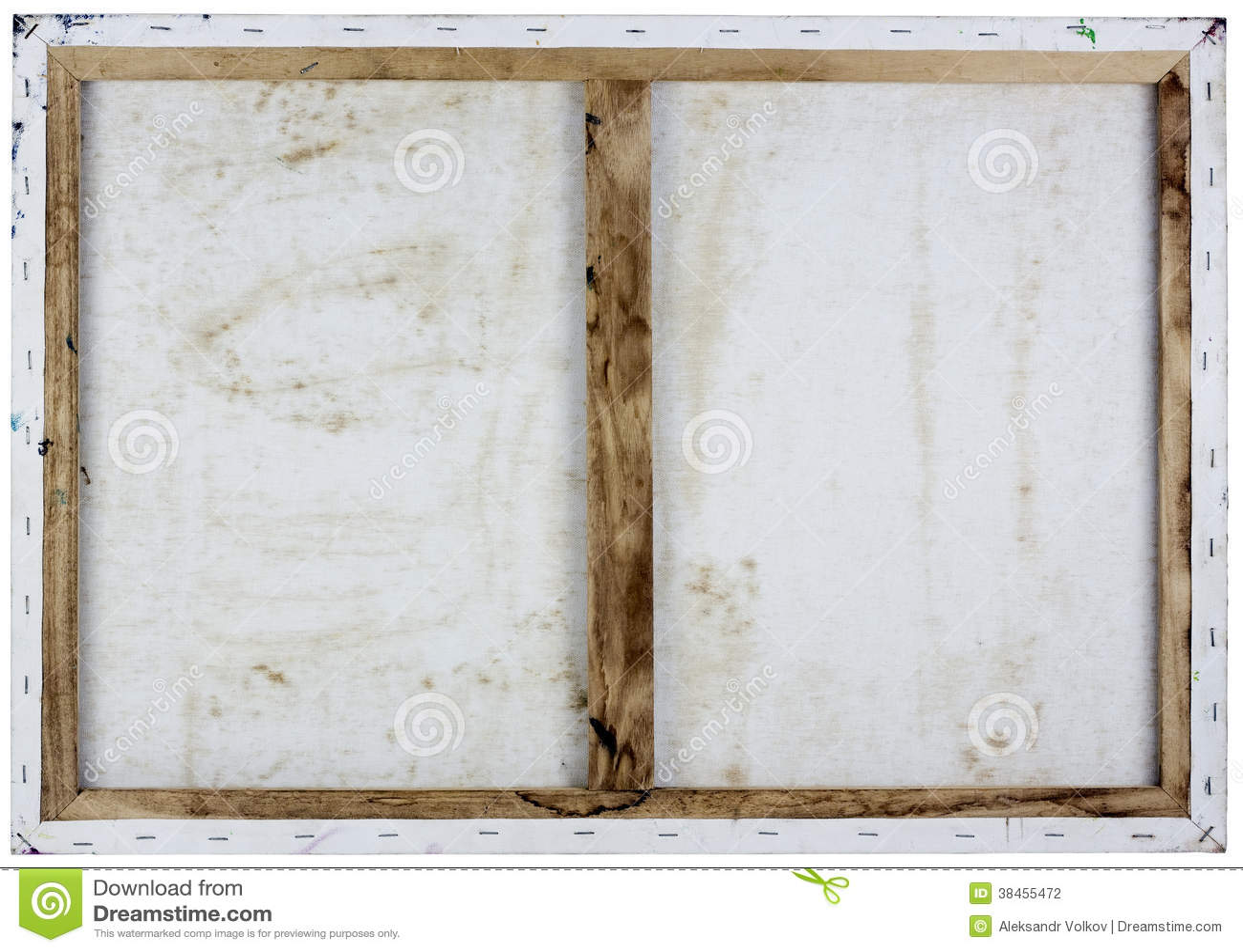 Vue blanche d arrière de toile d huile