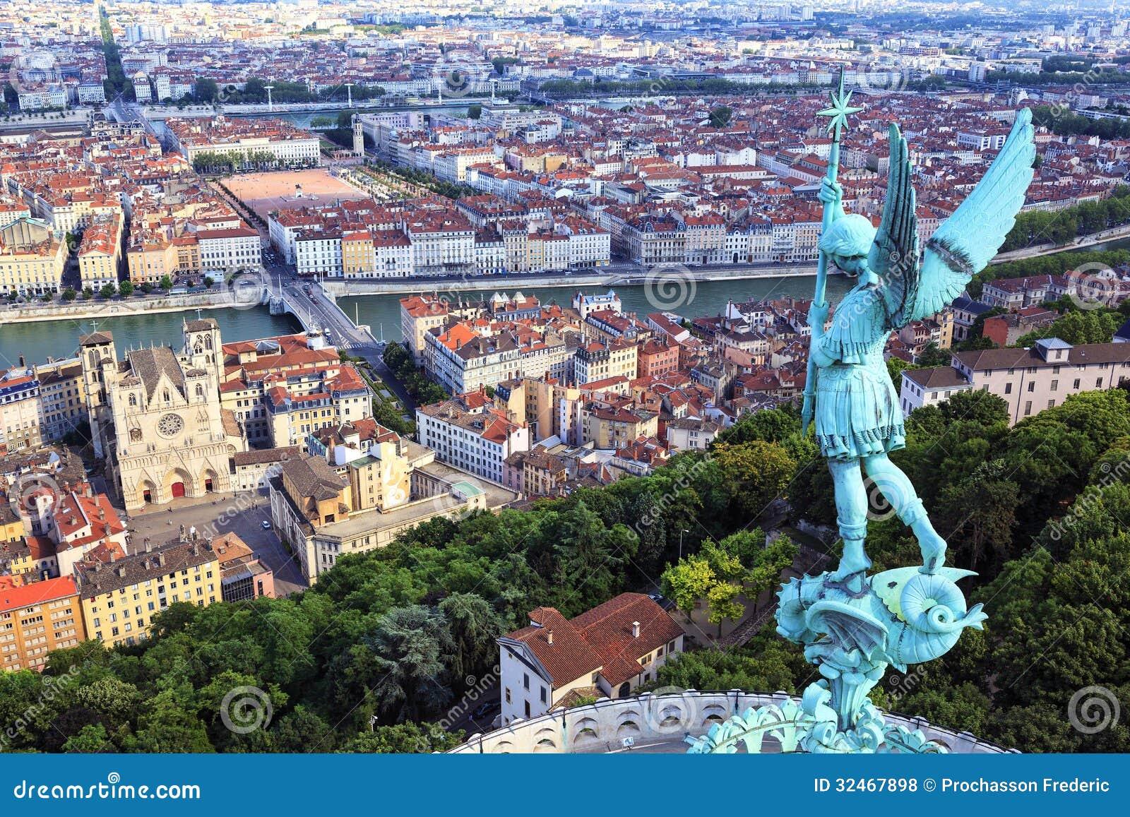 Vue célèbre de Lyon