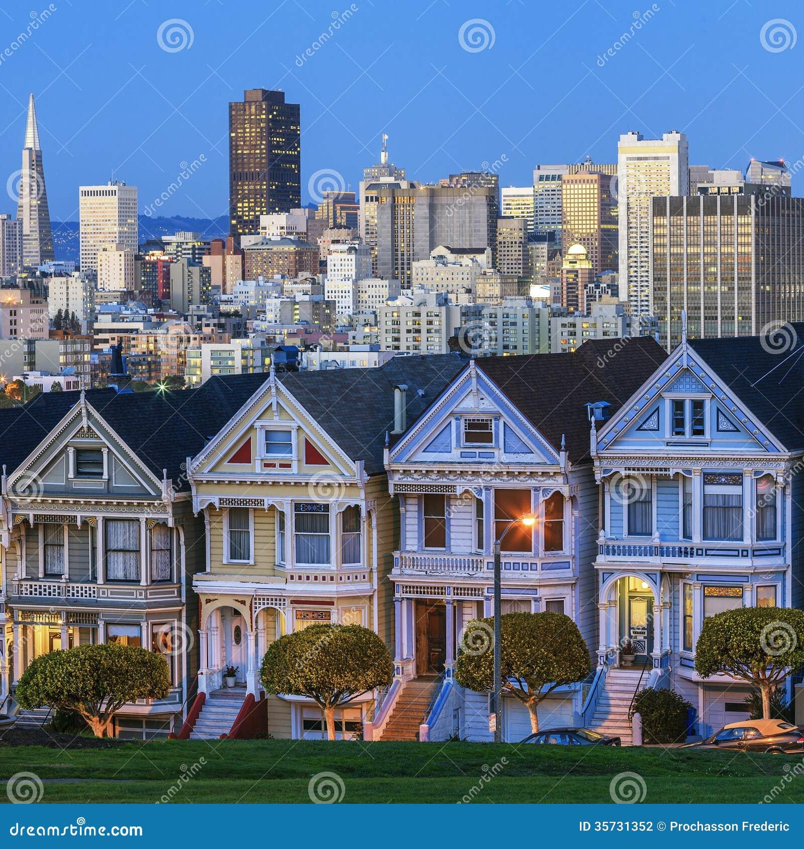 Vue célèbre de San Francisco
