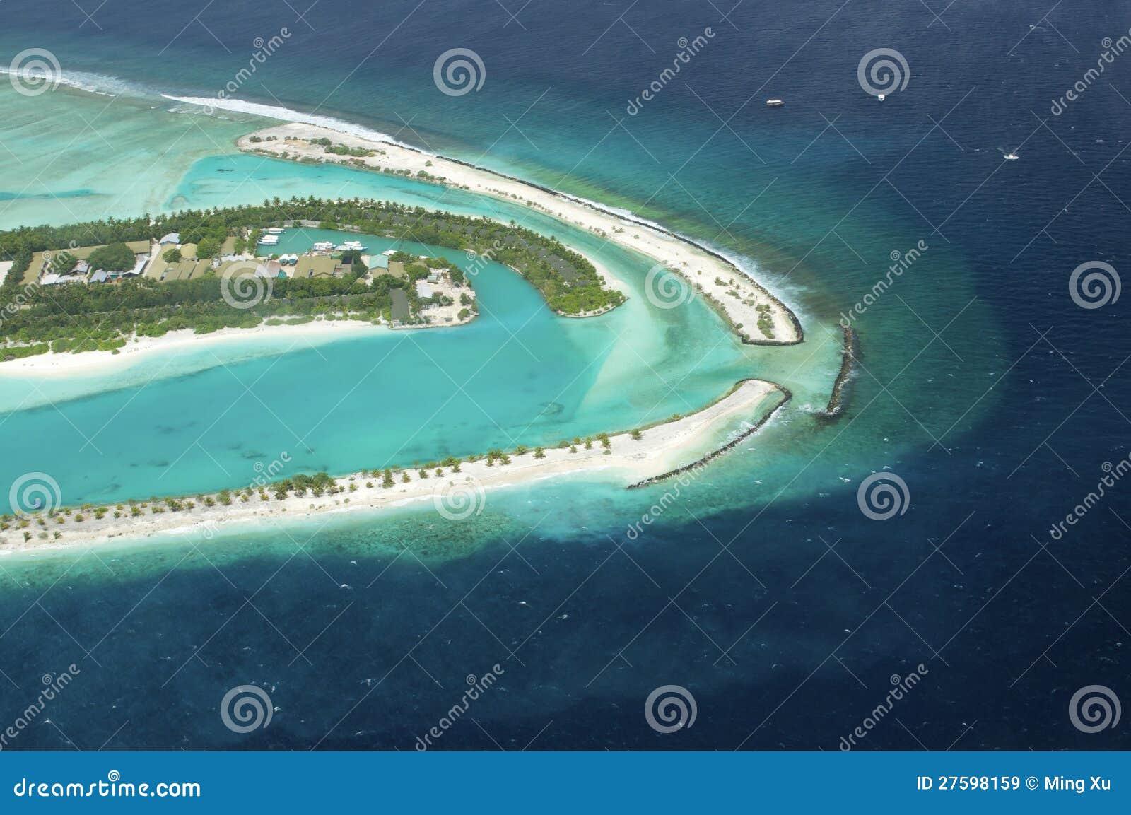 Vue d Arial de la île de vacances