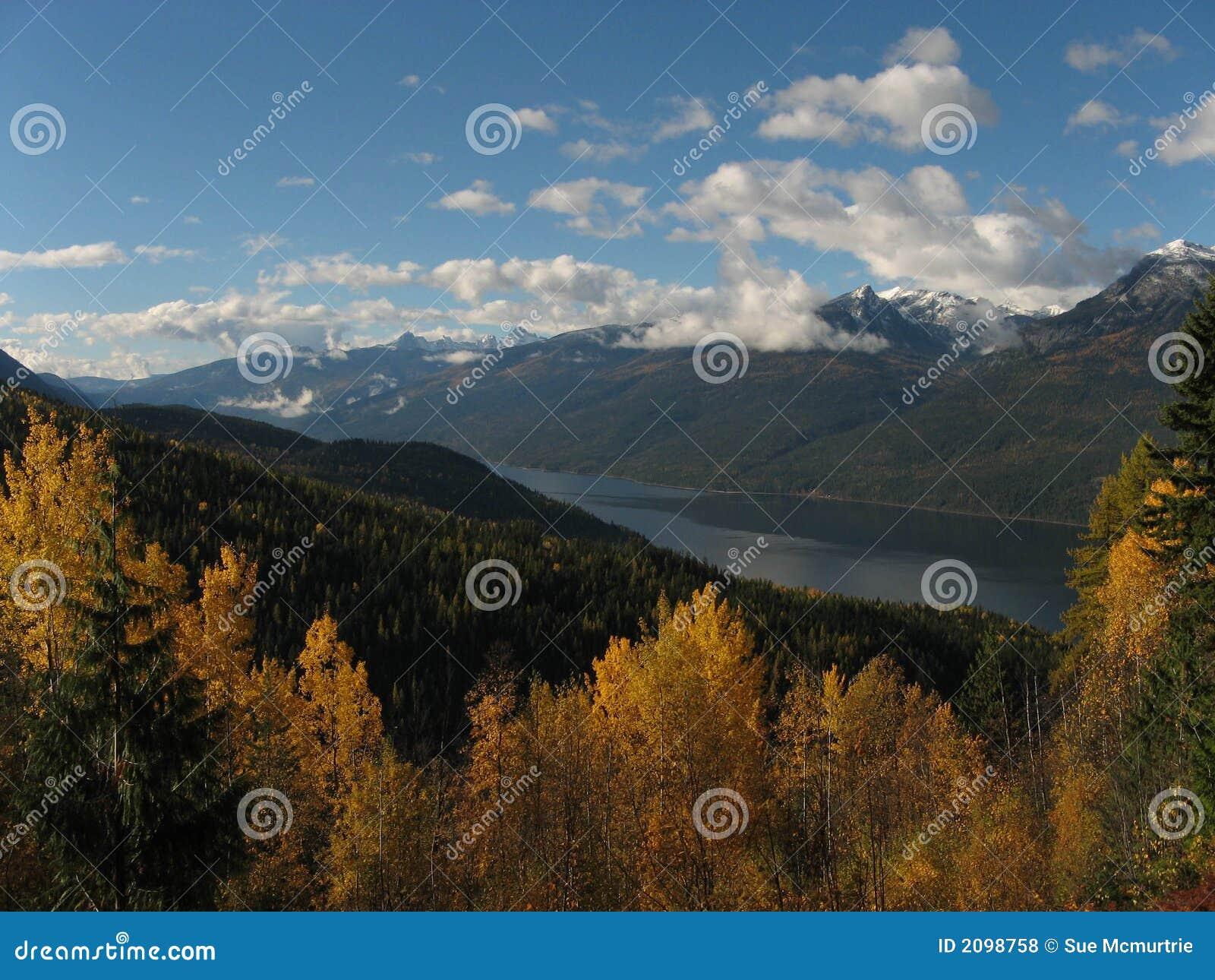 Vue d automne de Slocan Valley