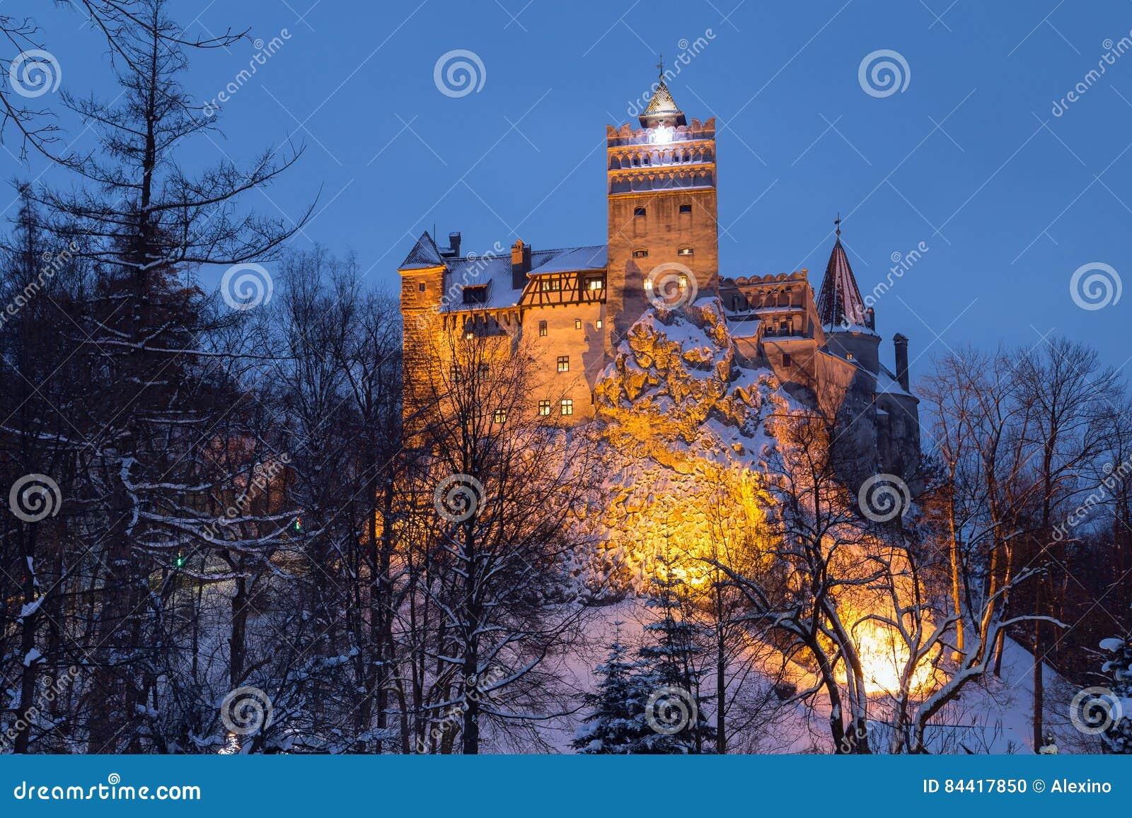 Vue d hiver de château de son,