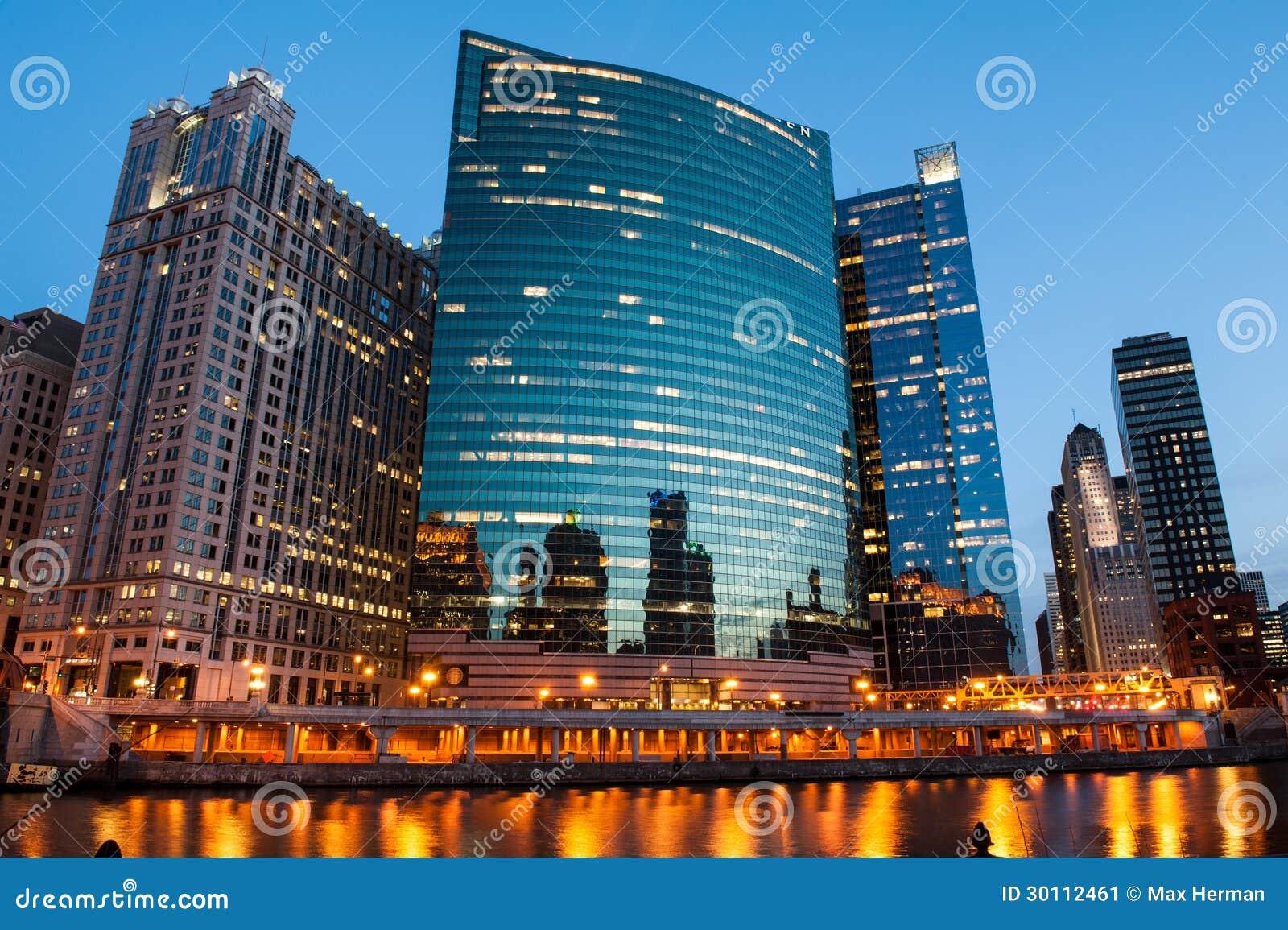 Vue de la rivière Chicago