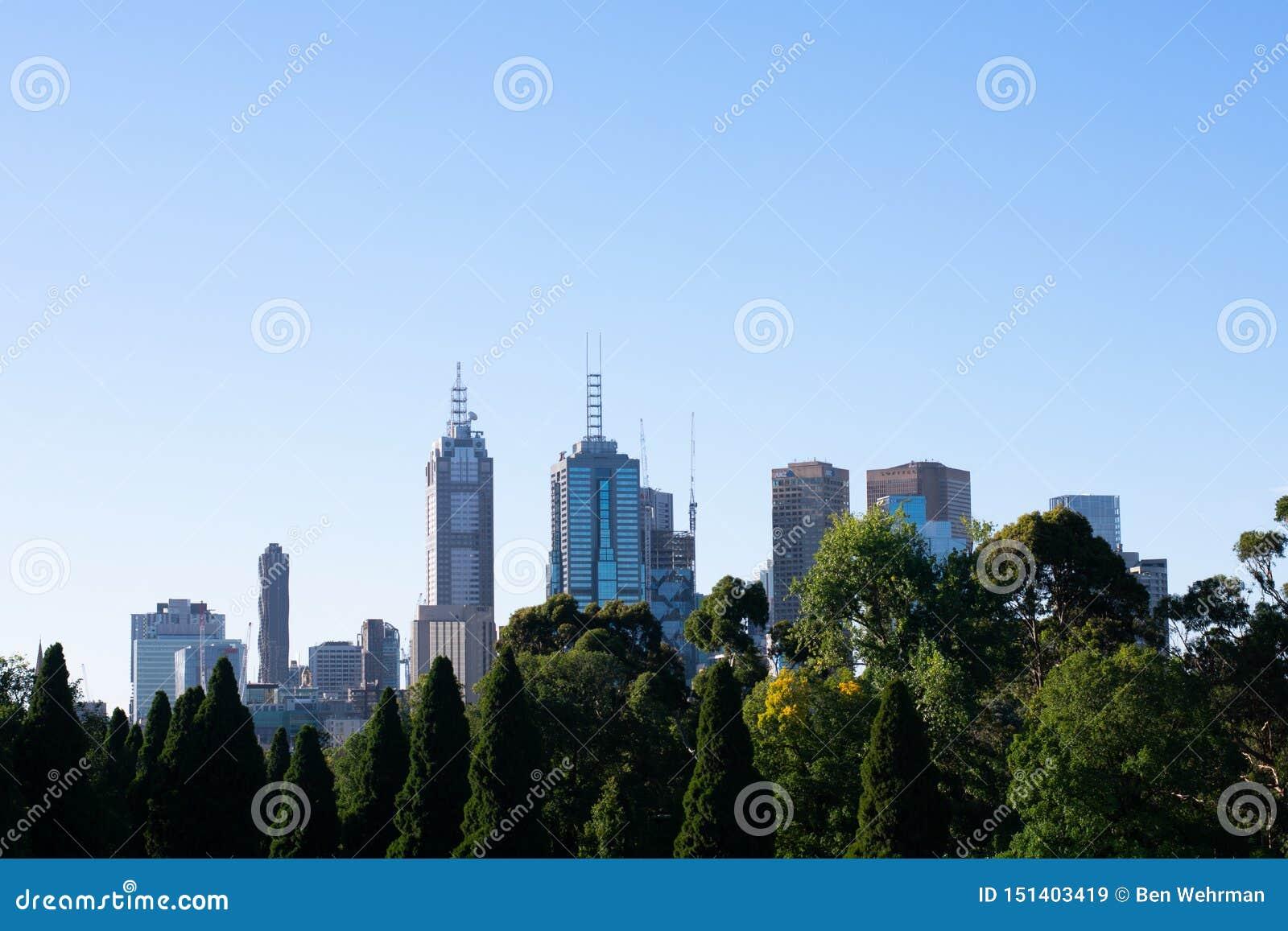 Vue d horizon de Melbourne