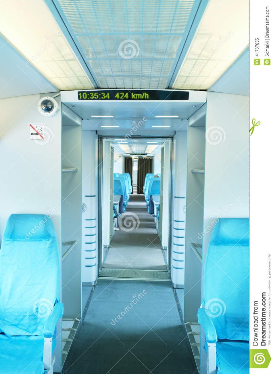vue d 39 int rieur de train de maglev photo stock image. Black Bedroom Furniture Sets. Home Design Ideas