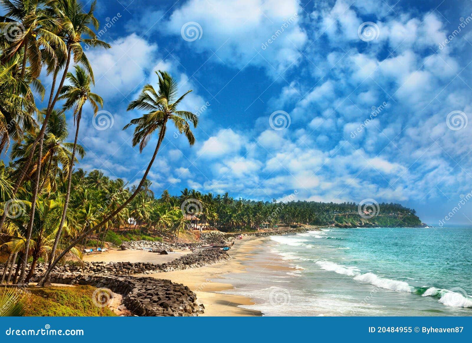Vue d océan dans Varkala Kerala Inde