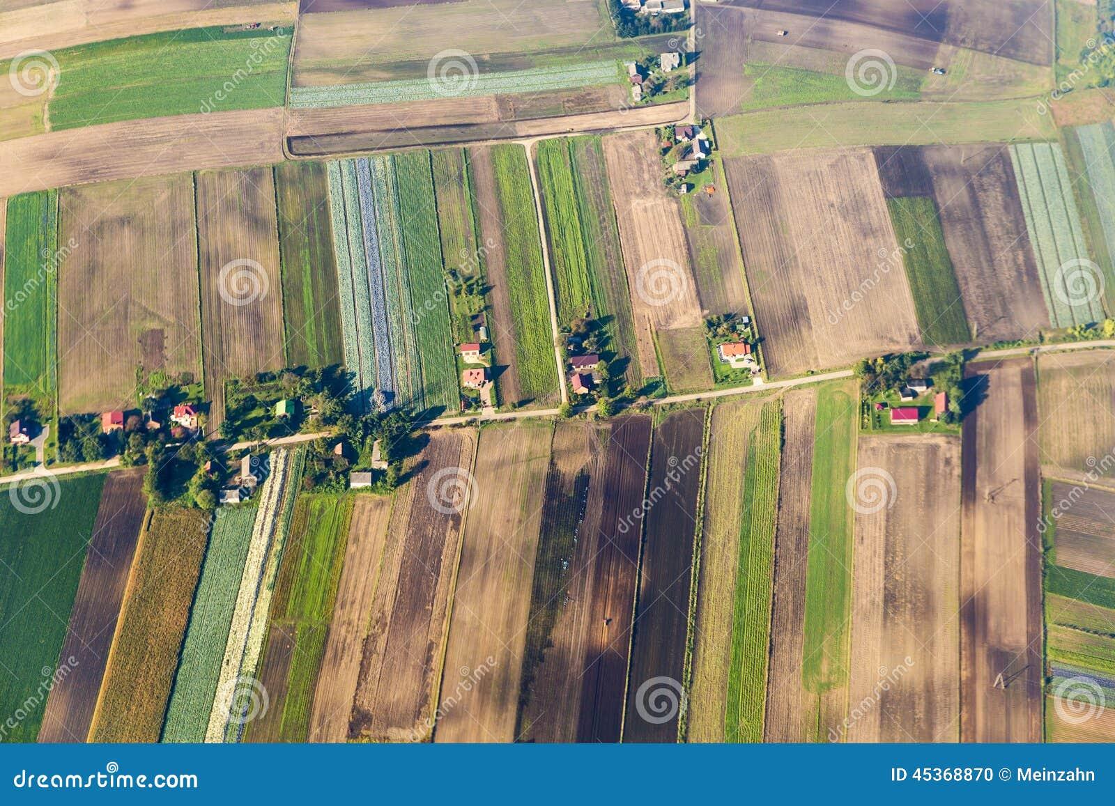 Vue d oeil d oiseau de paysage rural