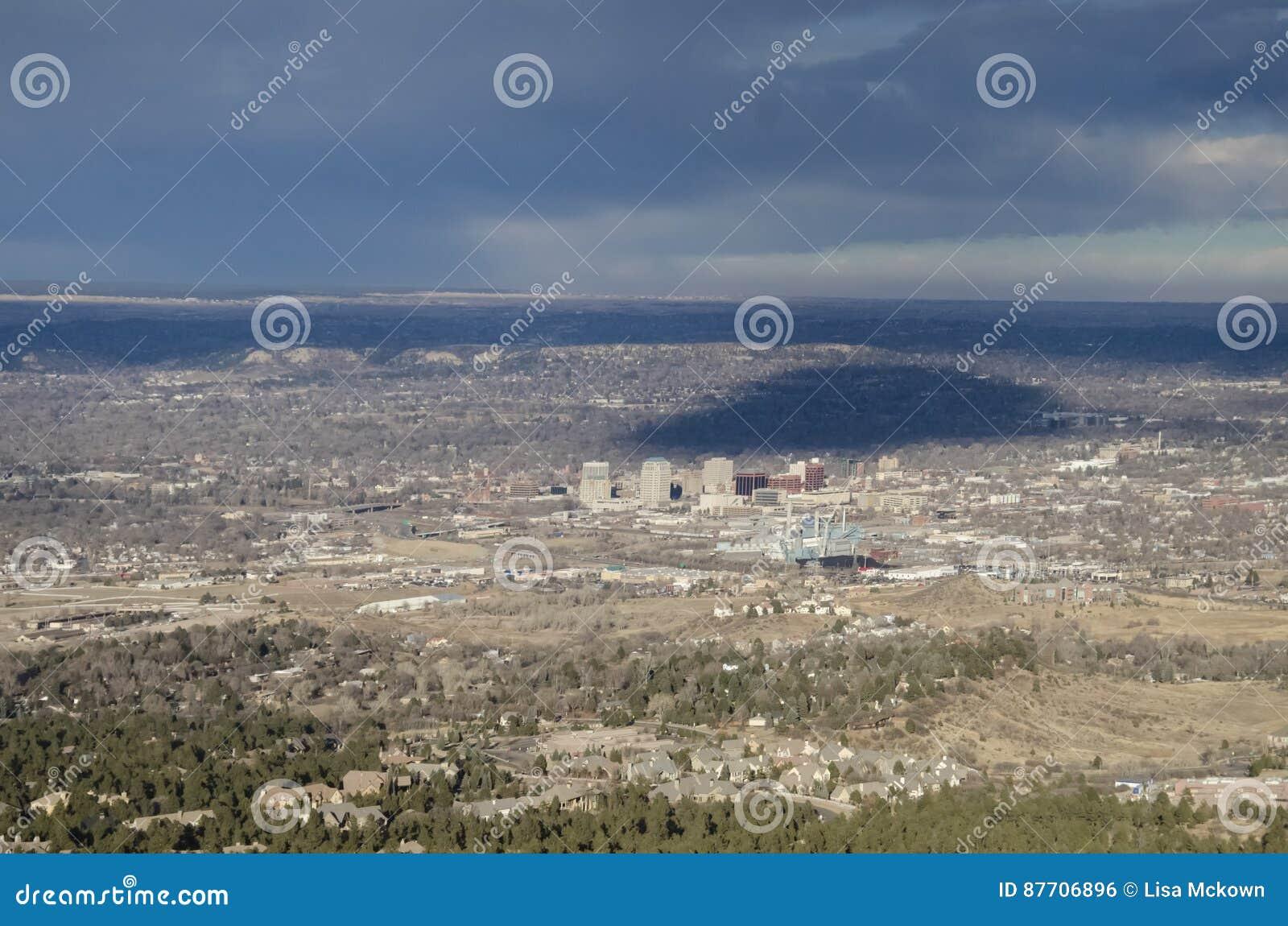 Vue d oeil d oiseaux de Colorado Springs