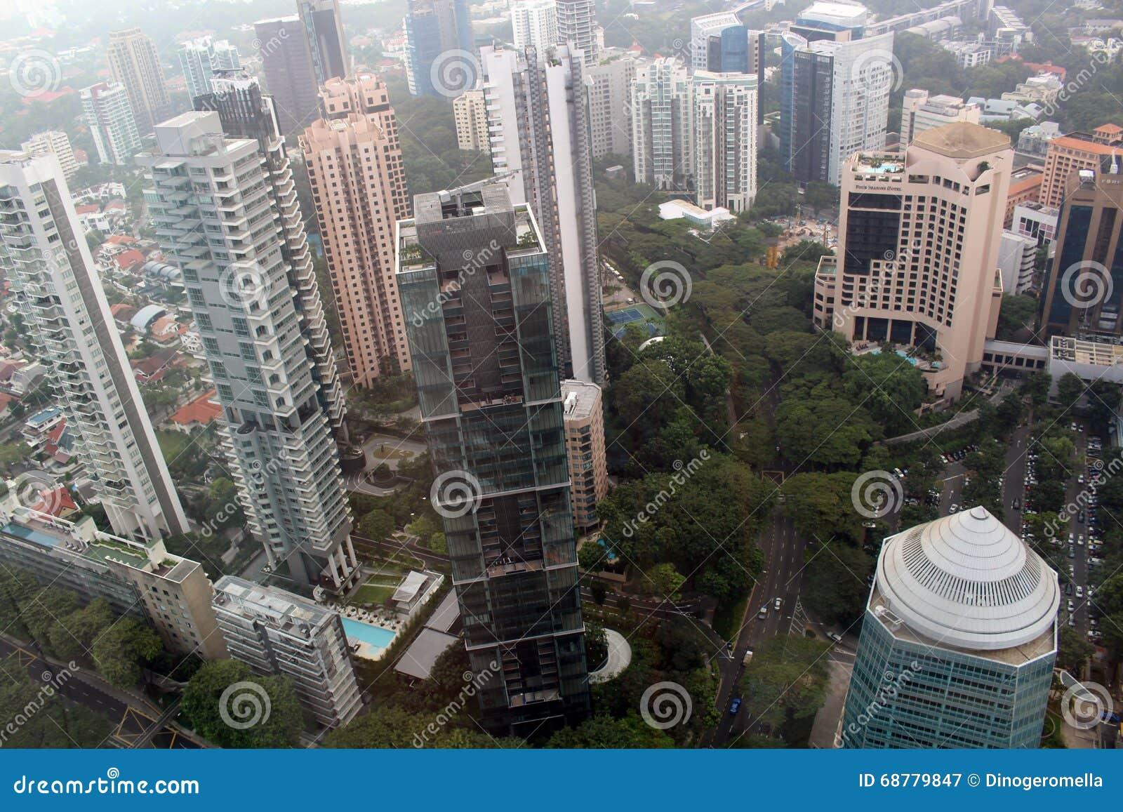Vue d oiseau de Singapour